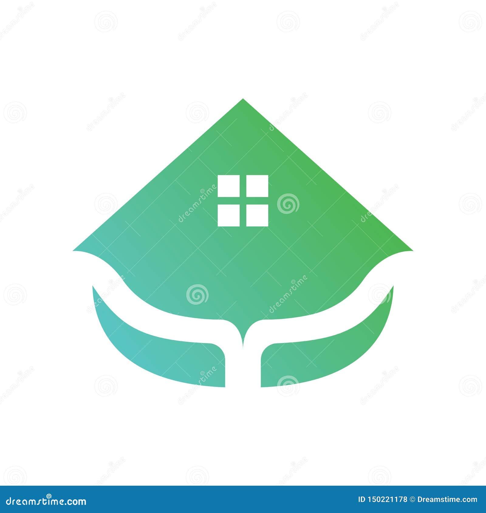 Вектор логотипа зеленого дома