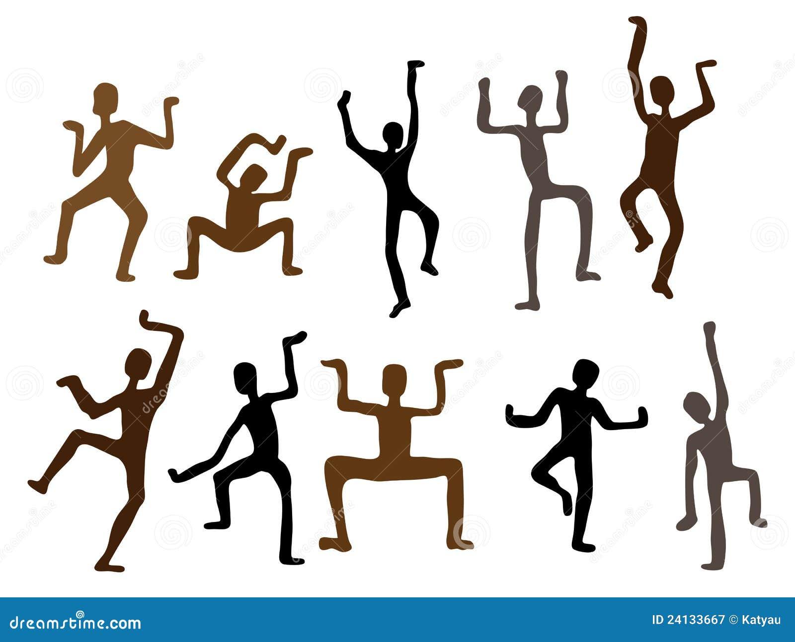 вектор людей иллюстрации абстрактной танцульки этнический