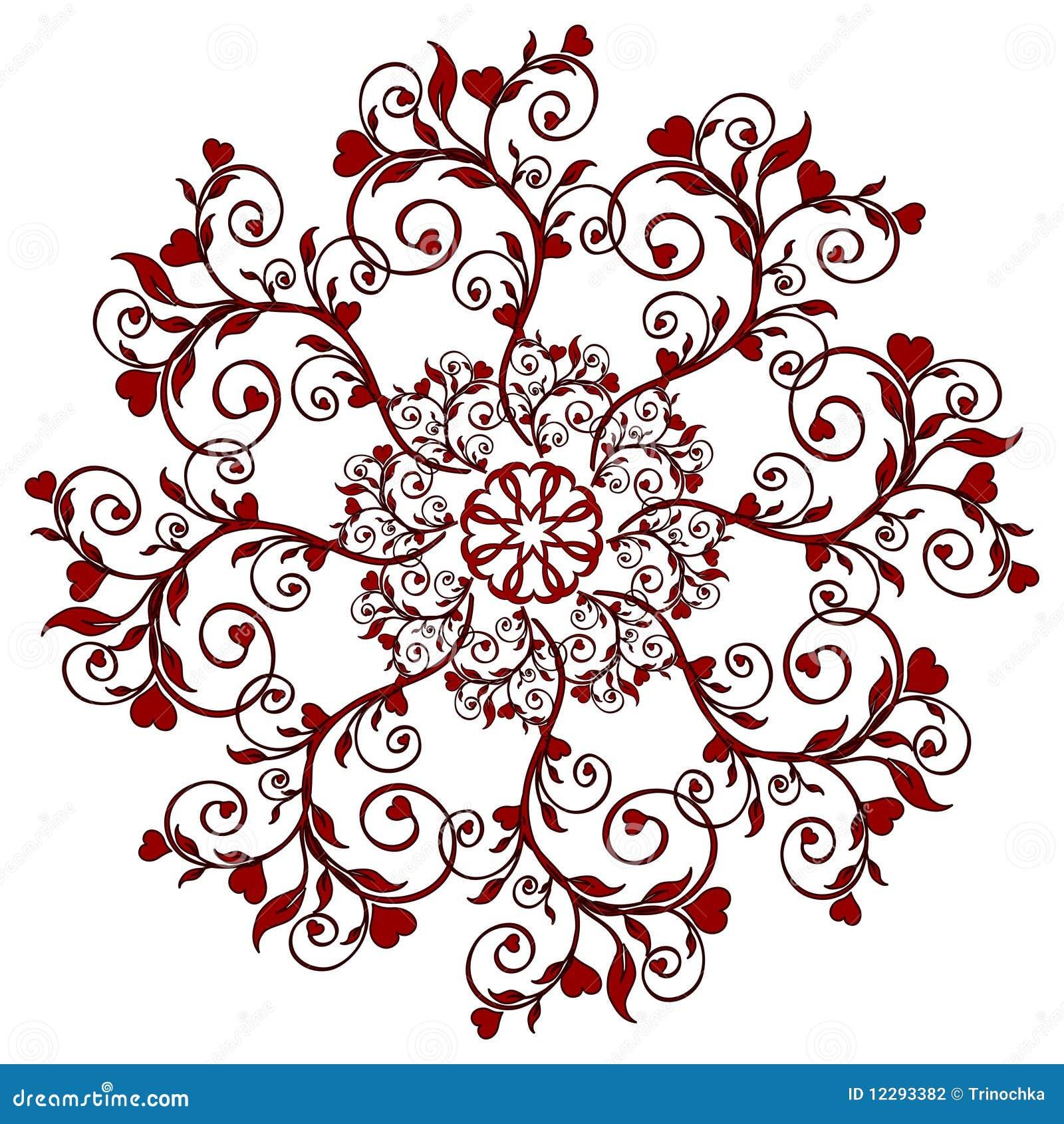 вектор орнамента иллюстрации цветка