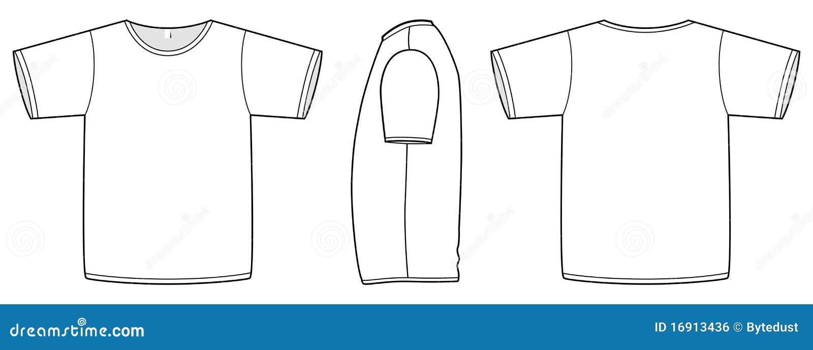 вектор основного шаблона рубашки t иллюстрации unisex
