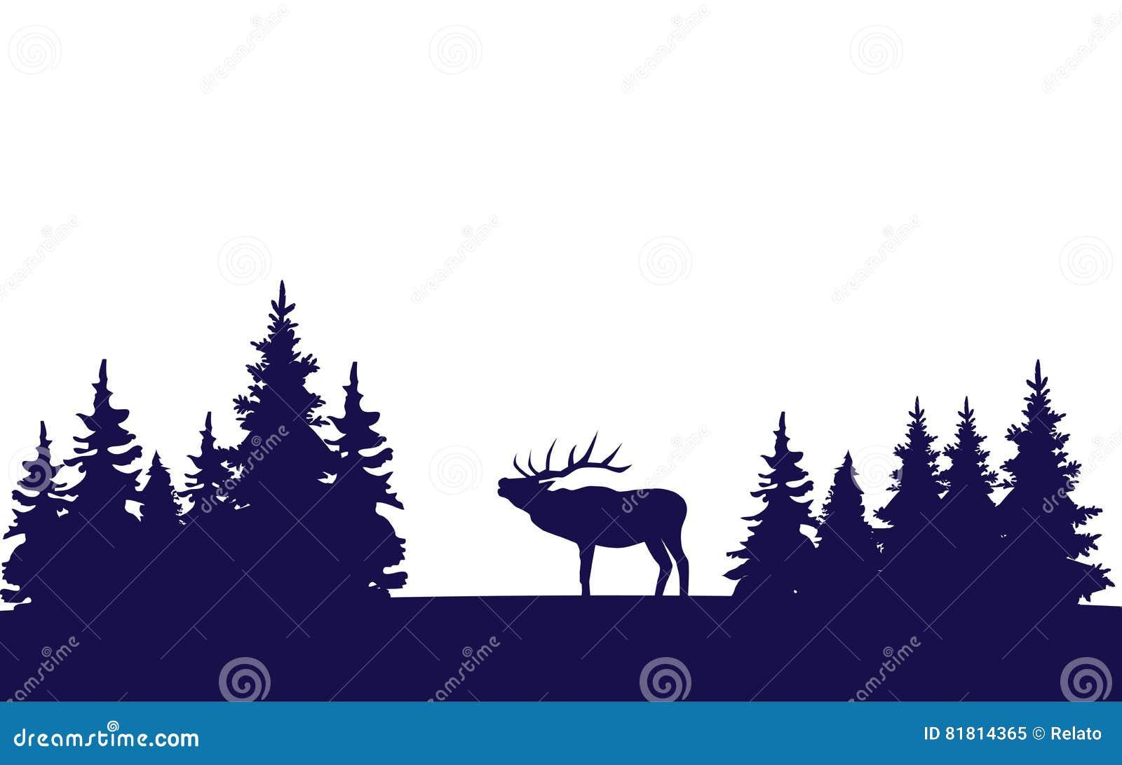 вектор открытки оленей рождества