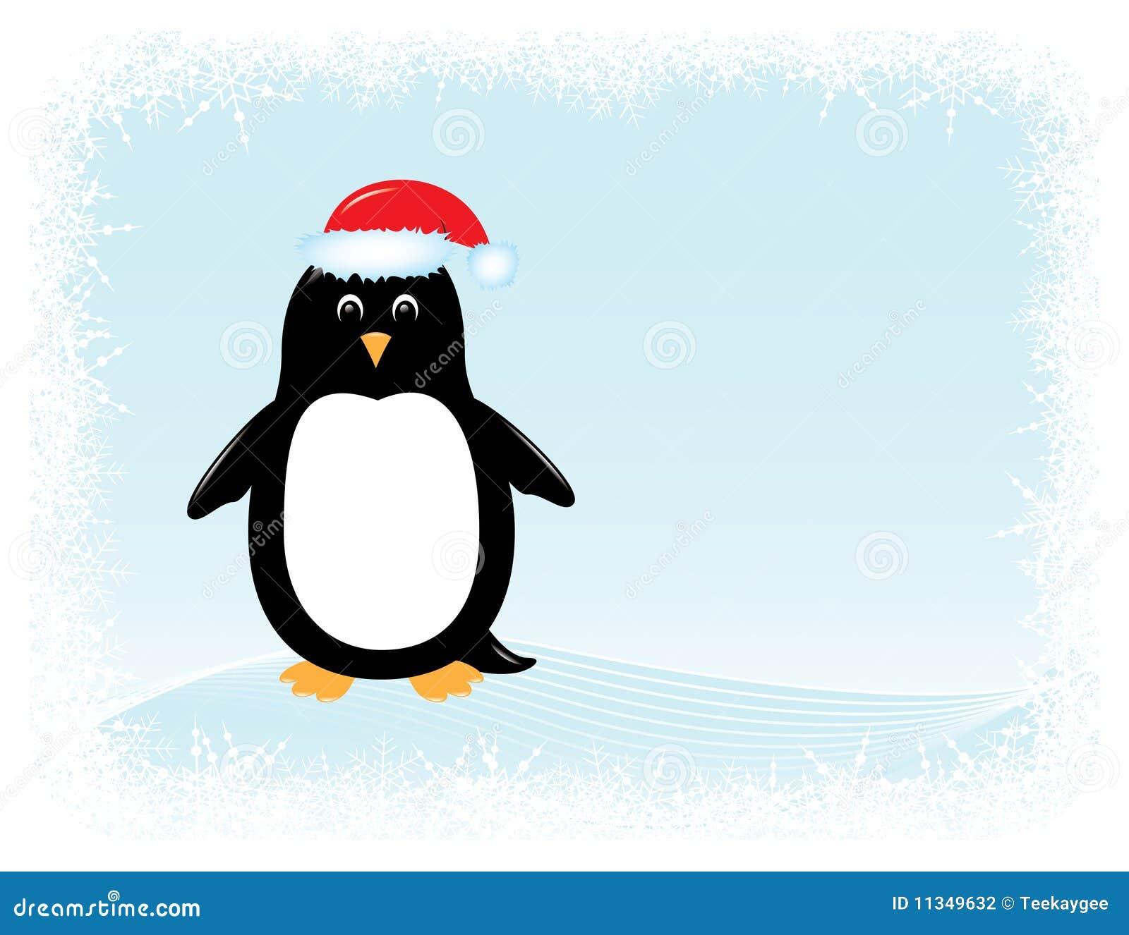 вектор пингвина приветствию карточки