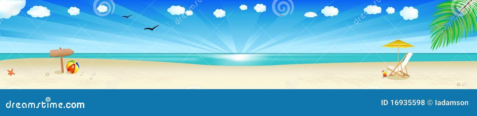 вектор пляжа знамени