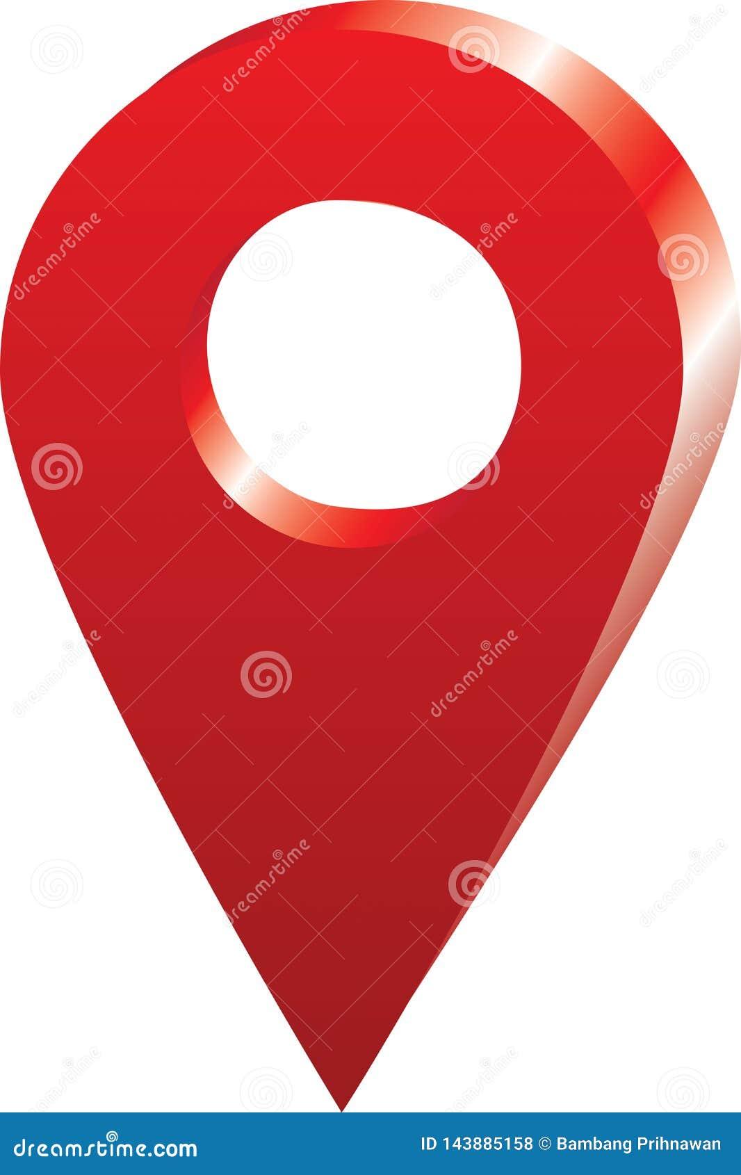 Вектор - положение значка Pin карты на карте Google