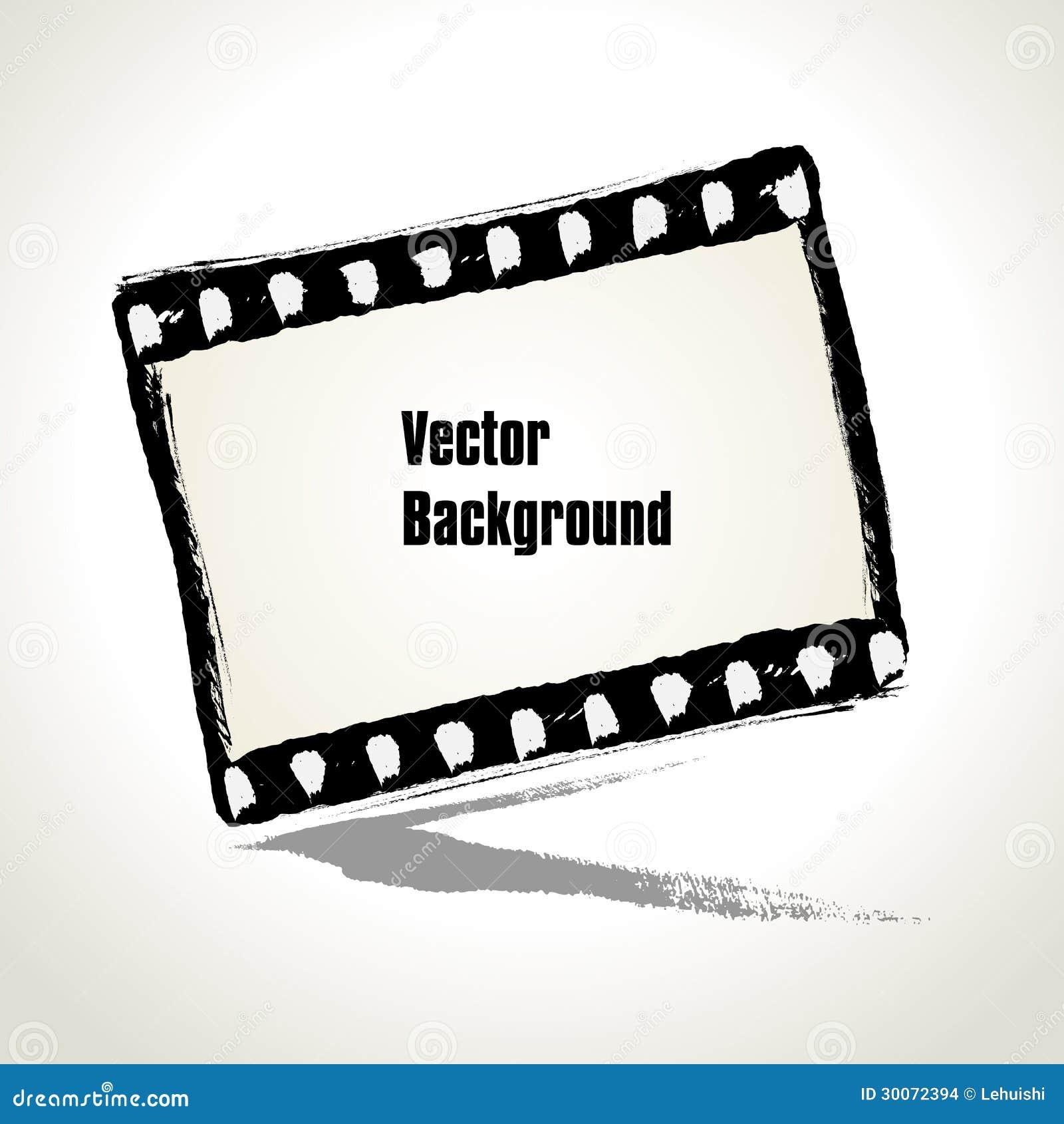 Вектор: Постаретая иллюстрация рамки filmstrip grunge.