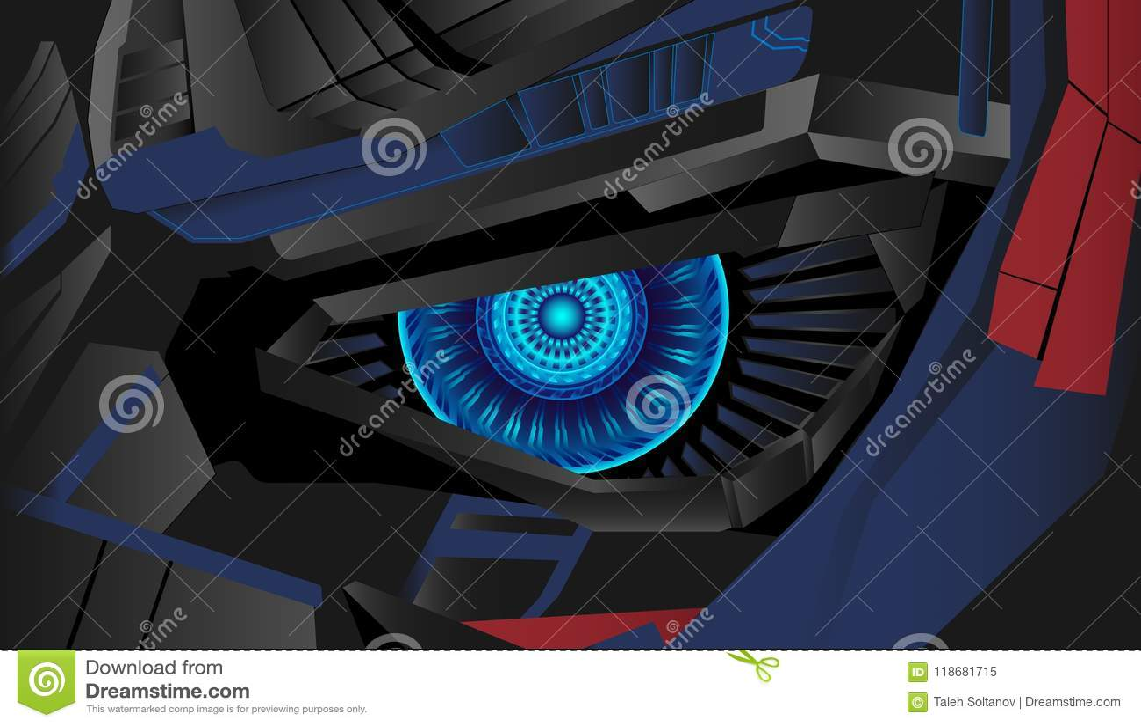 Вектор предпосылки глаза кибер