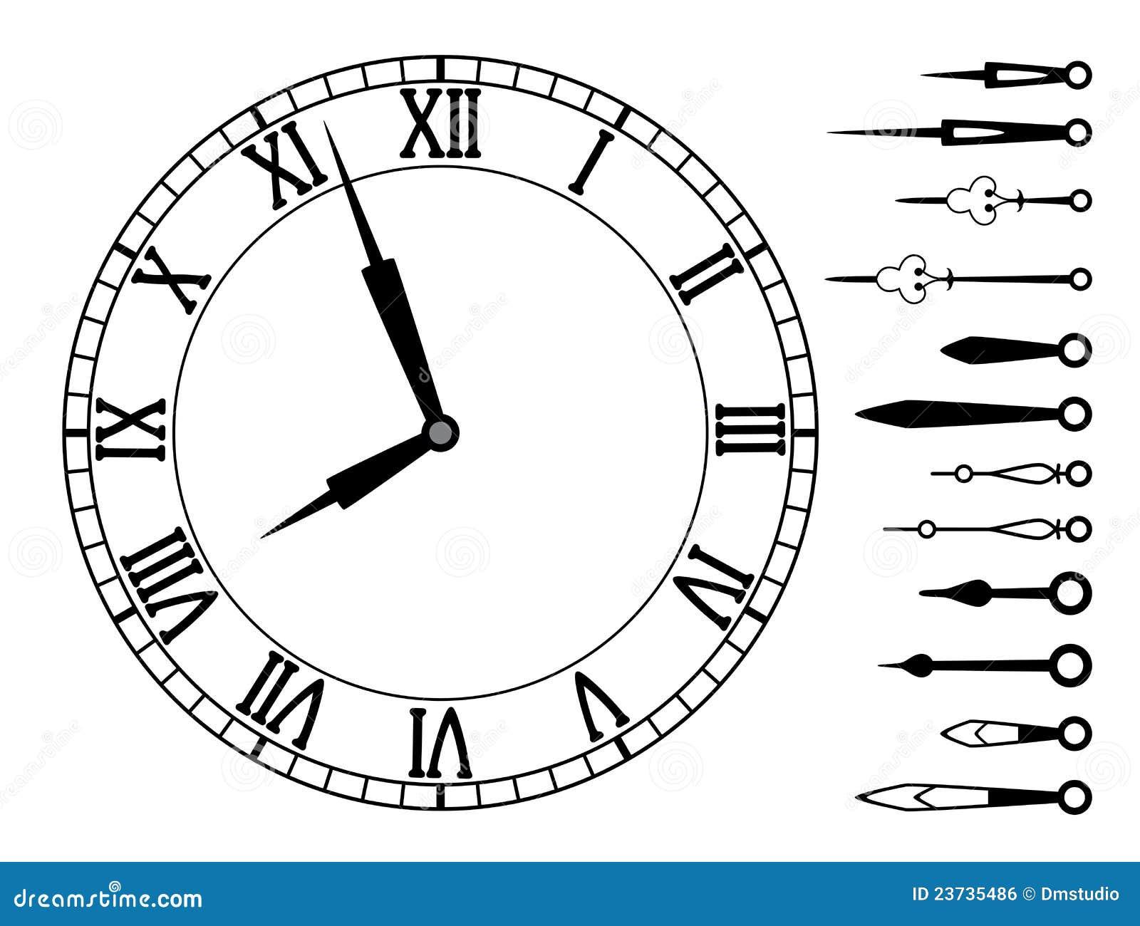 Скачать шаблон часов