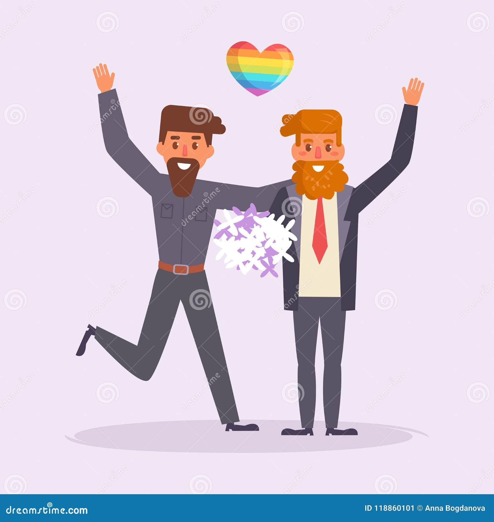 Вектор свадьбы гомосексуалиста