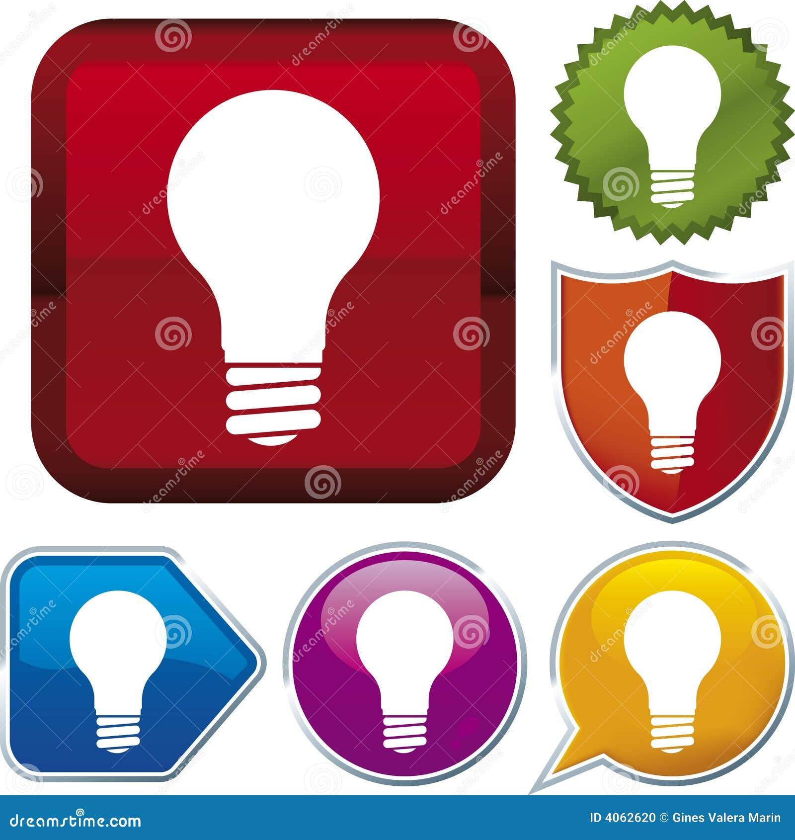 вектор серии lightbulb иконы