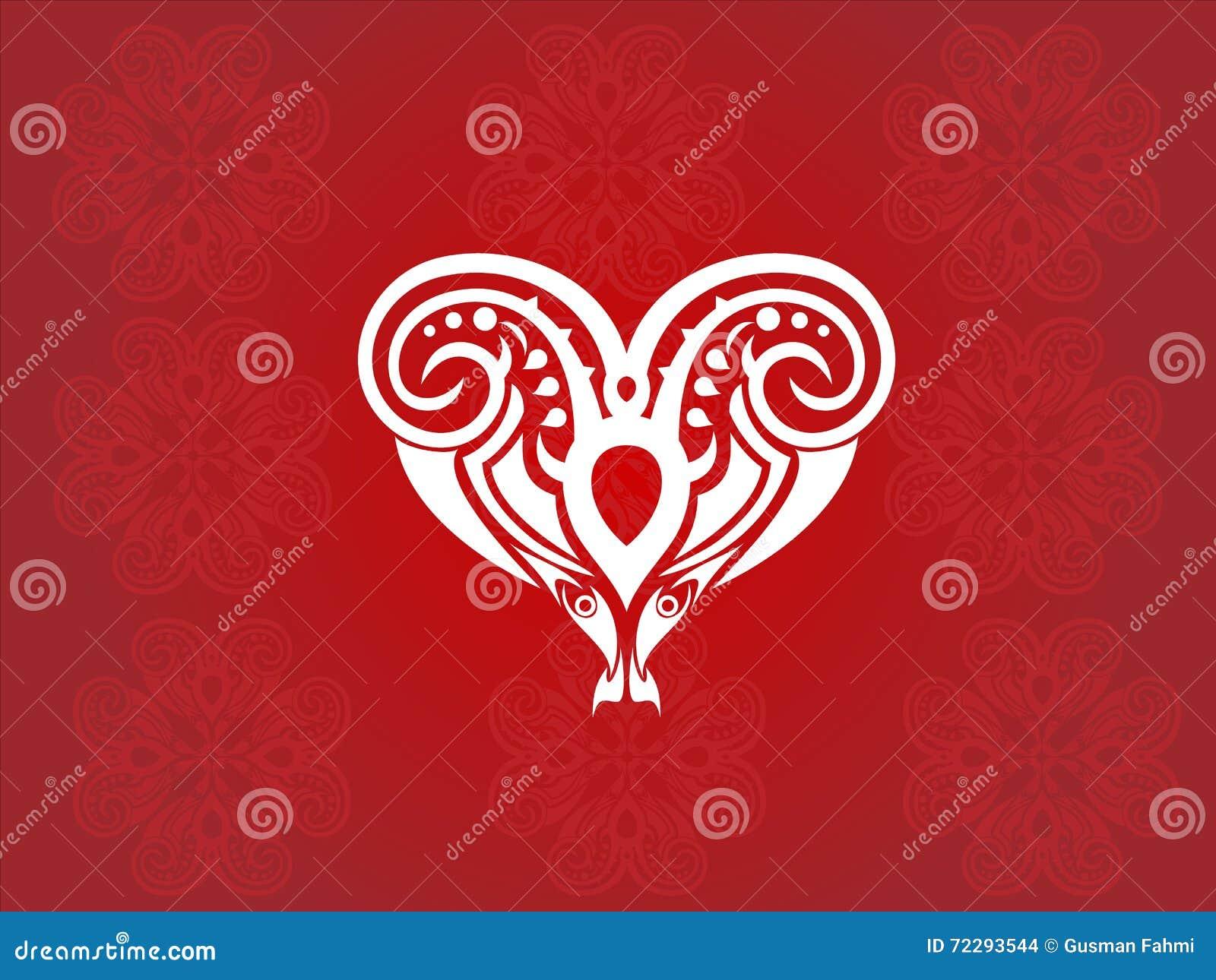 Download Вектор сердца племенной иллюстрация вектора. иллюстрации насчитывающей художничества - 72293544