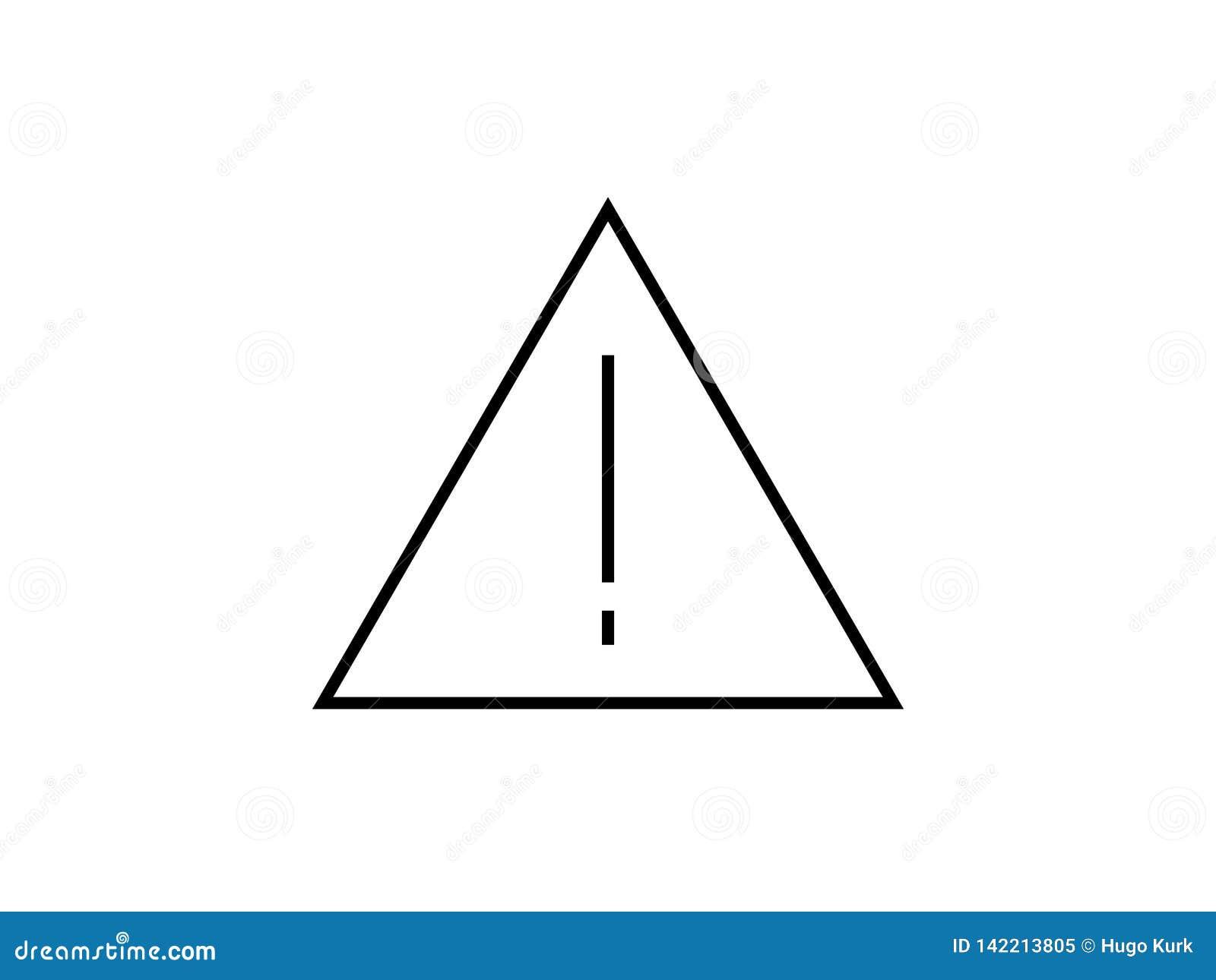 Вектор символа предупредительного знака