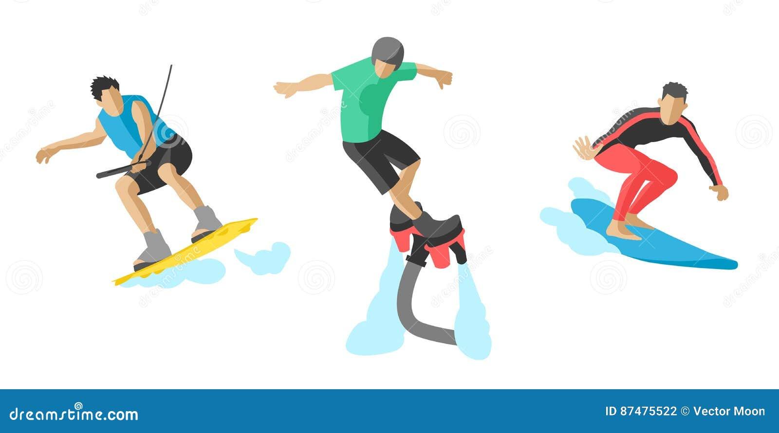 Вектор скача конек ролика скейтбордиста skydiver скорости весьма скейтборда жизни иллюстрации силуэтов спортсменов установленный