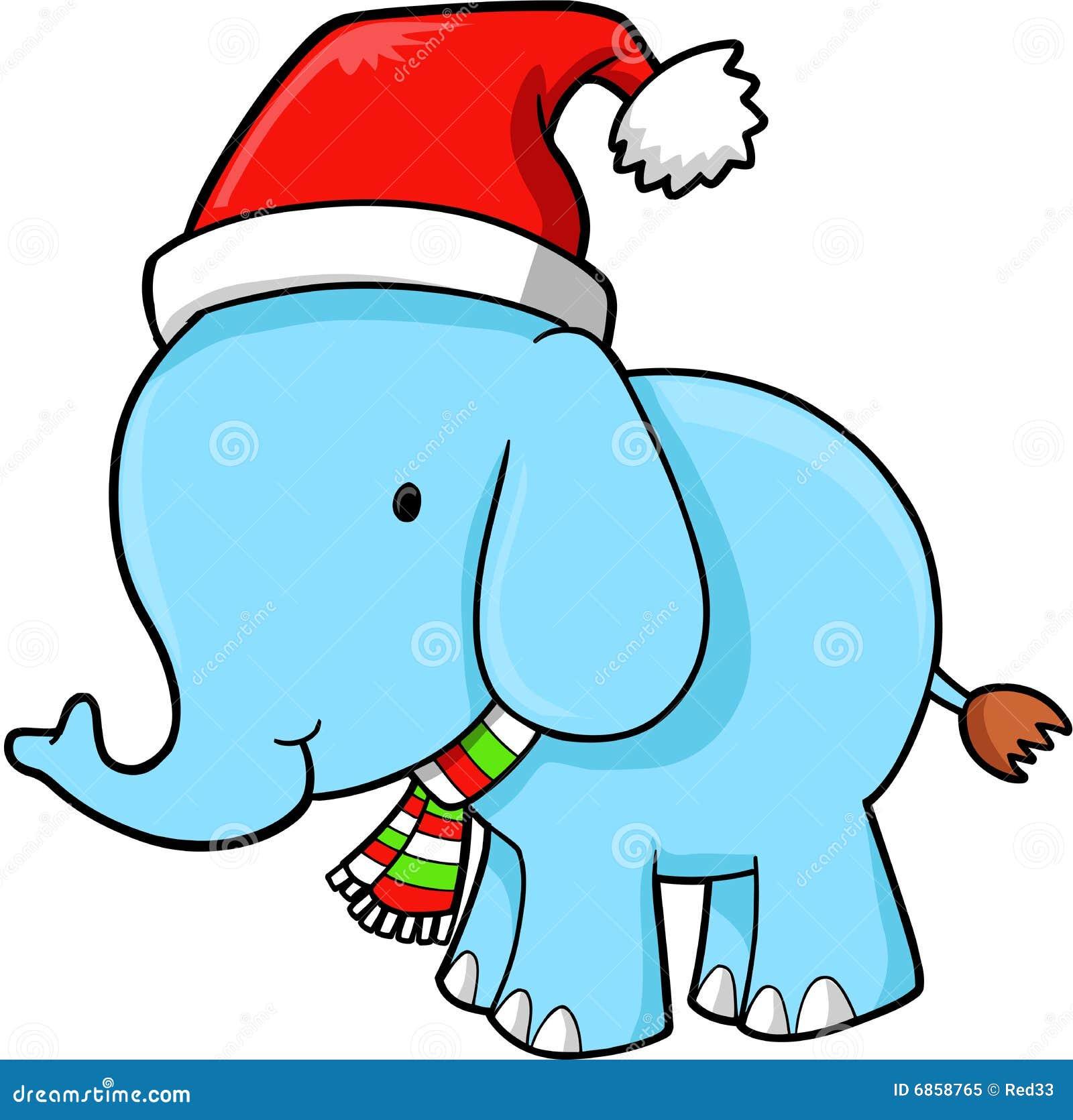 вектор слона рождества