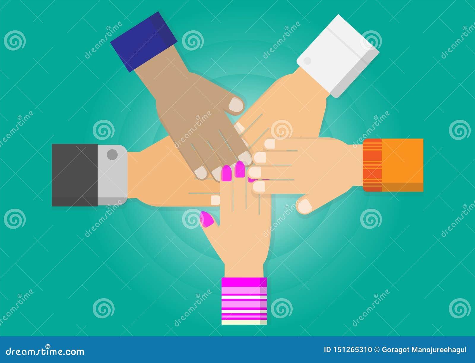 Вектор сыгранности 5 рук совместно