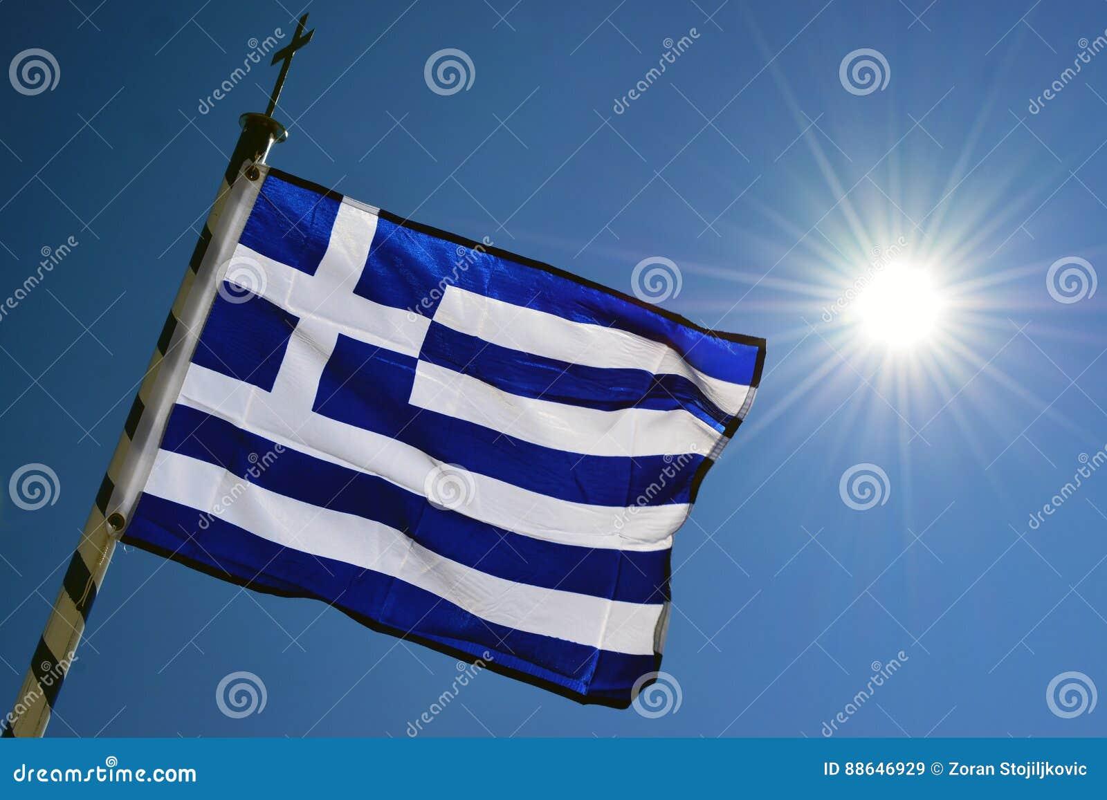 вектор типа Греции имеющегося флага стеклянный