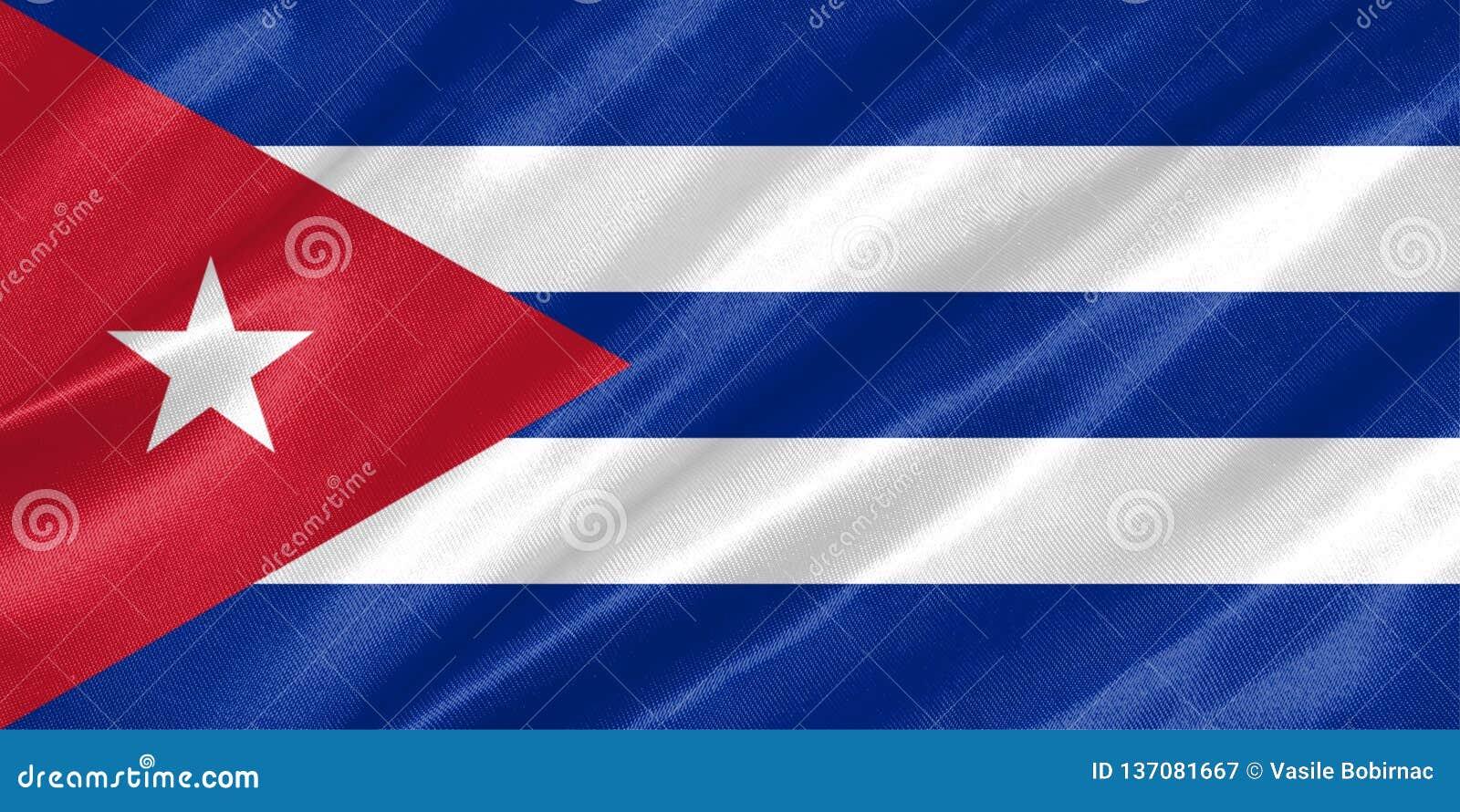 вектор типа имеющегося флага Кубы стеклянный