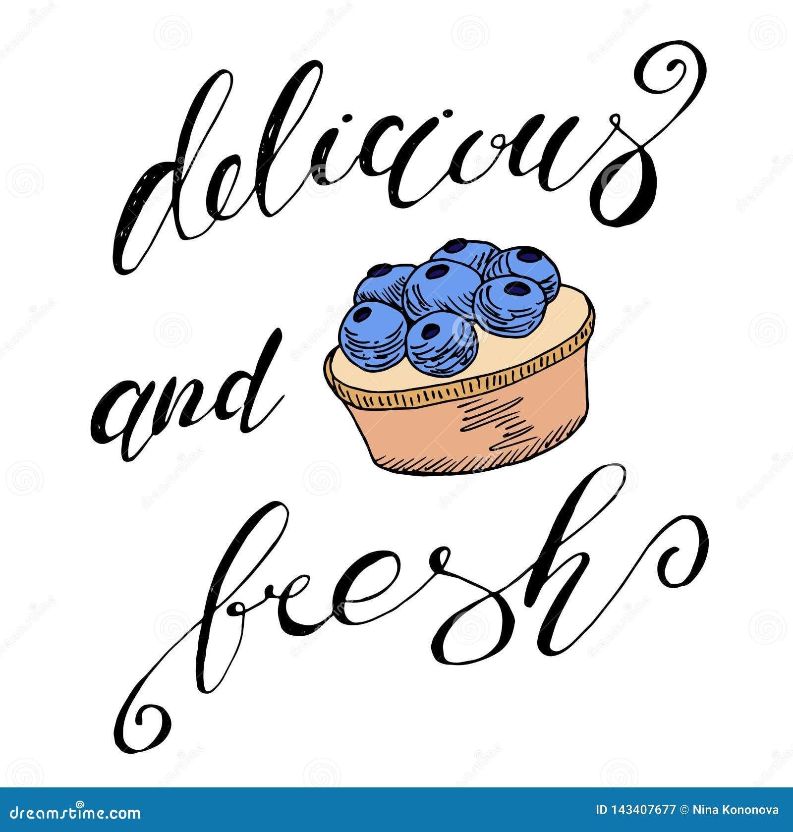 Вектор установил линии конфеты чертежа, эскиза на белой предпосылке, элементах дизайна Чай и торт Нарисованная рукой иллюстрация