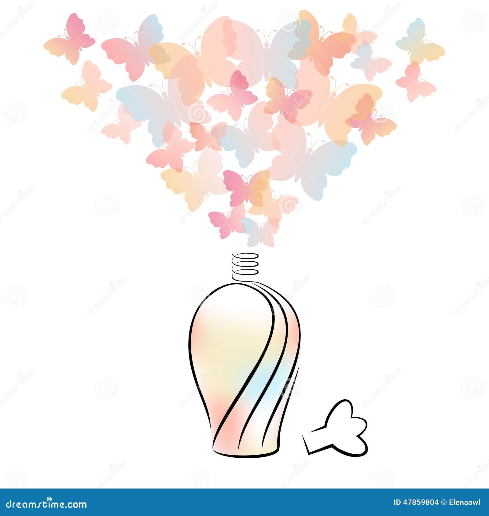 вектор дух сетки иллюстрации чертежа бутылки
