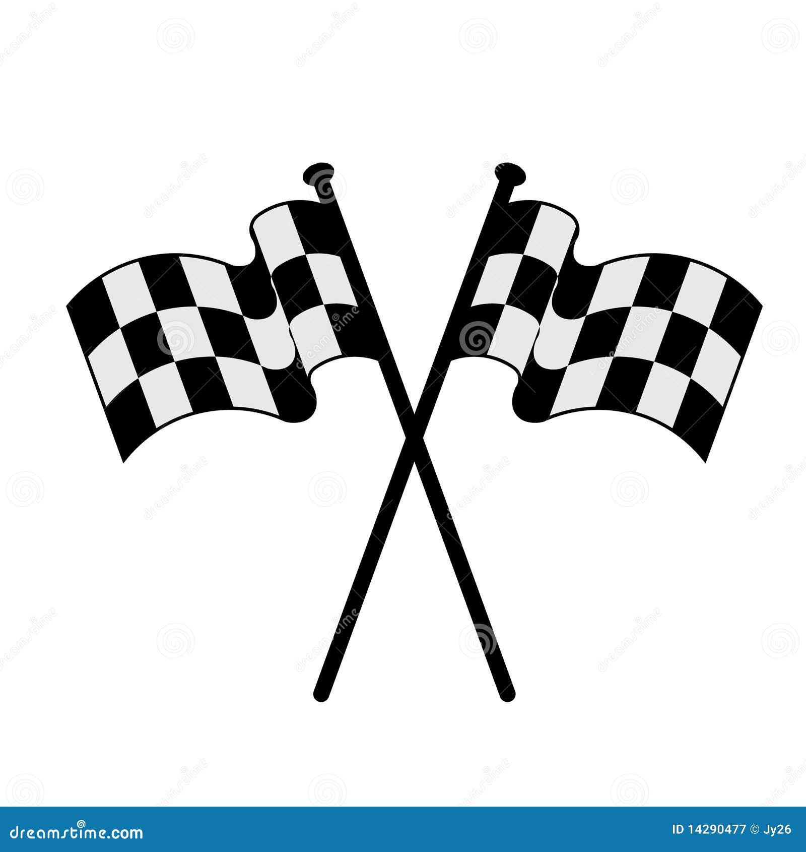 Вектор участвуя в гонке флаги