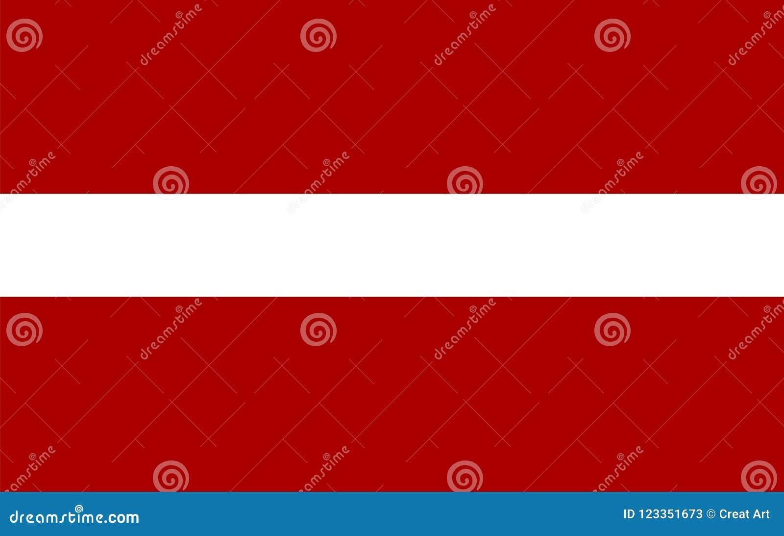 Вектор флага Латвии Иллюстрация флага Латвии
