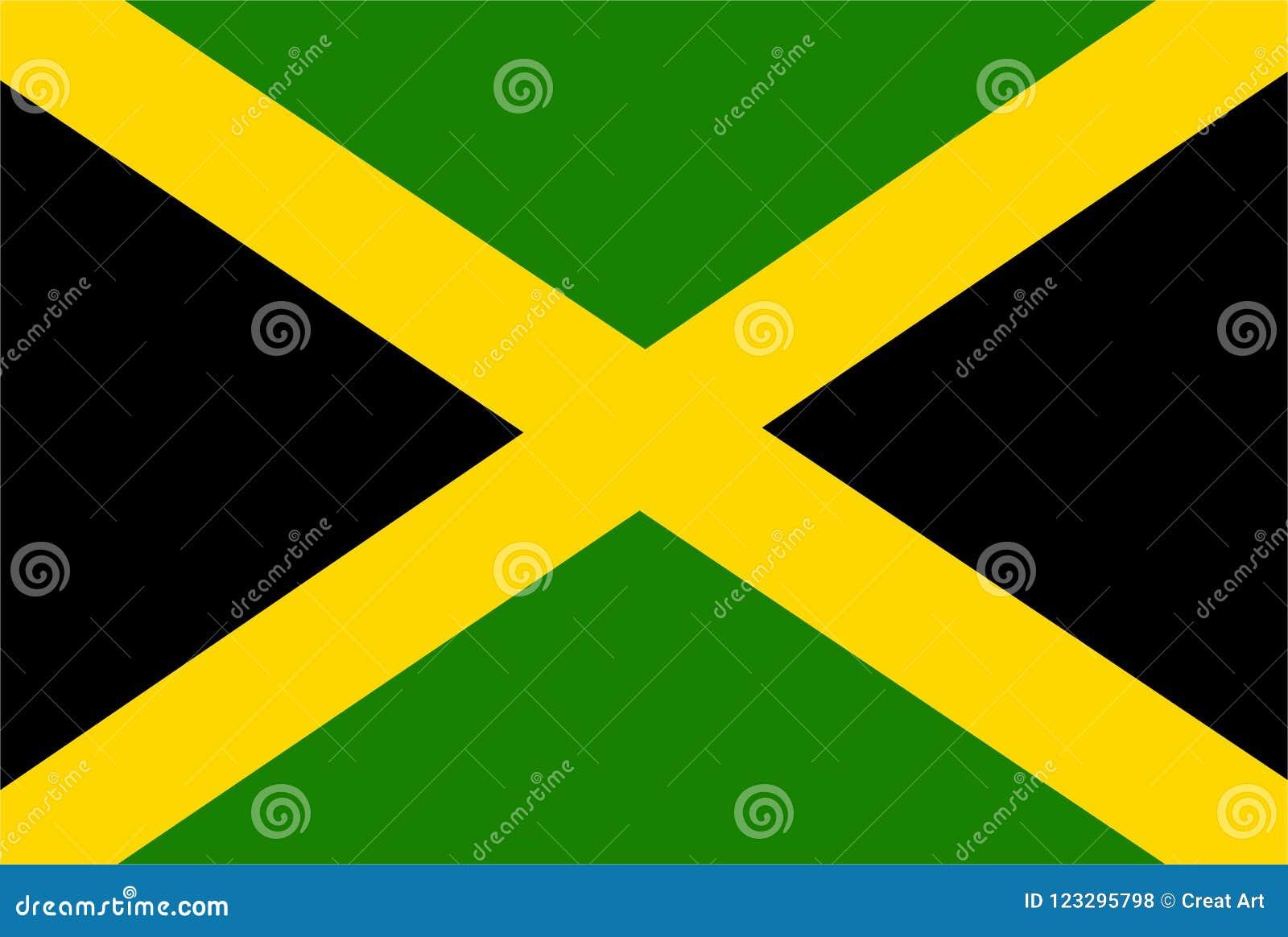 Вектор флага ямайки Иллюстрация флага ямайки