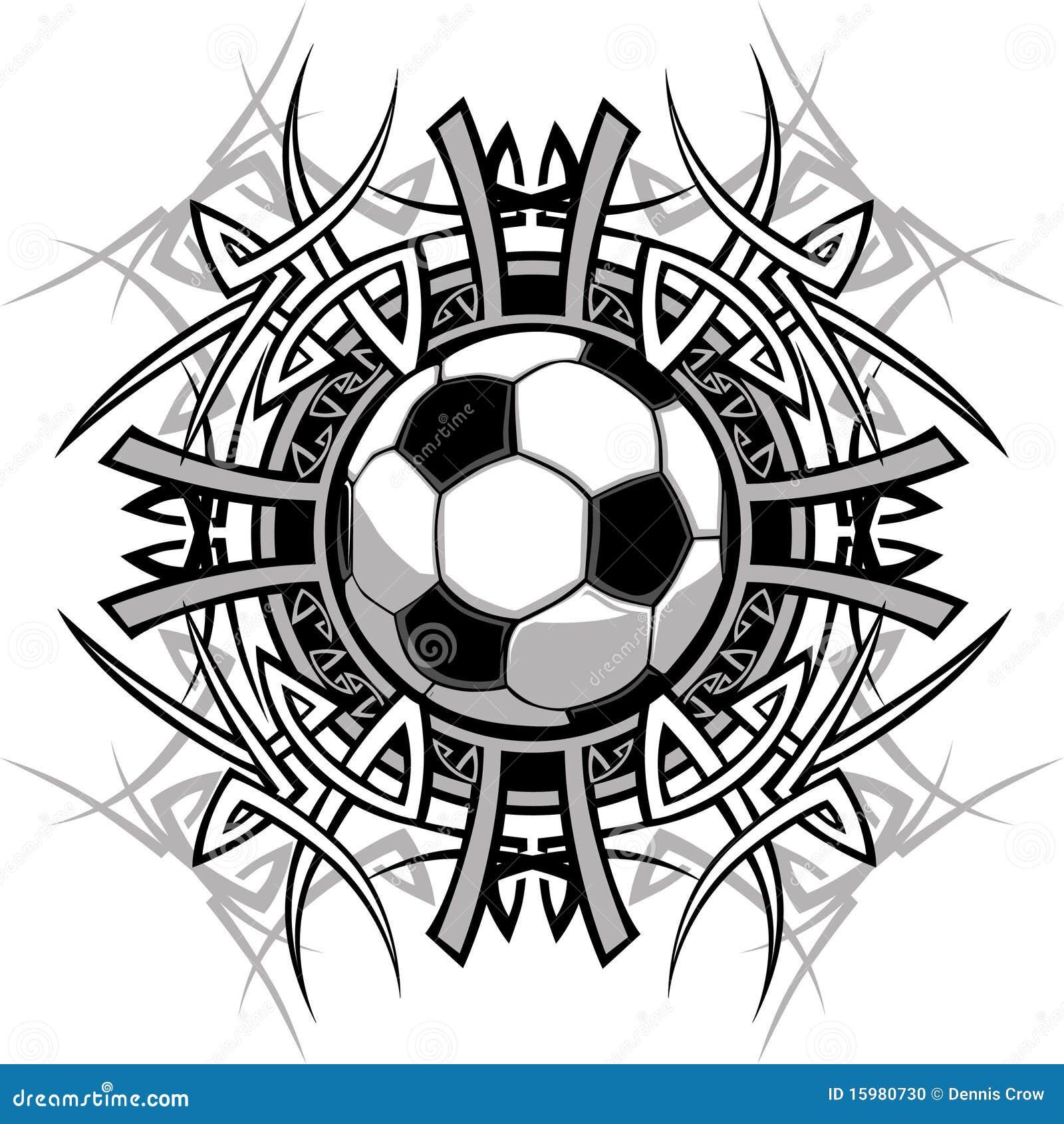 вектор футбола логоса шарика соплеменный