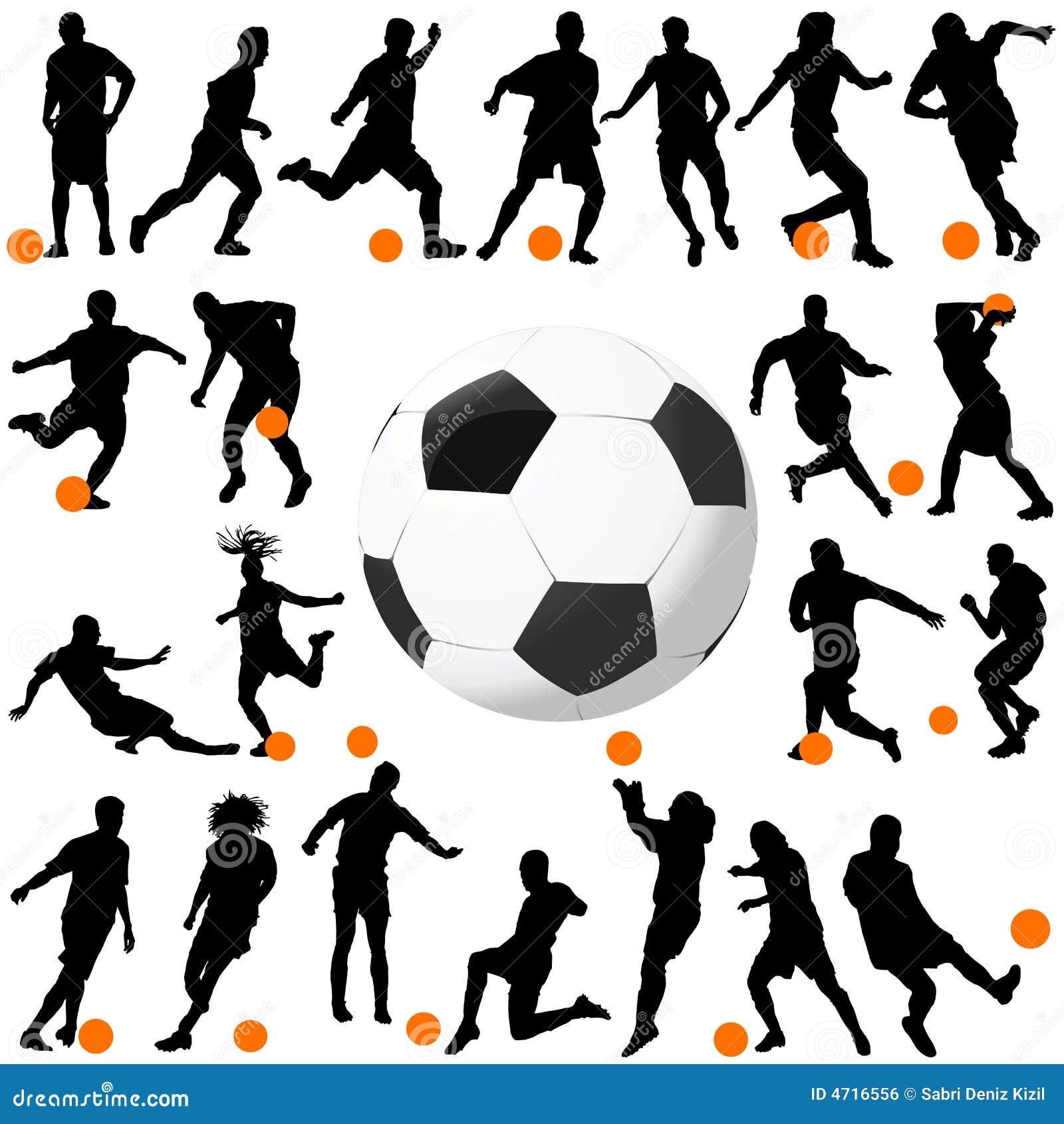 вектор футбола шарика