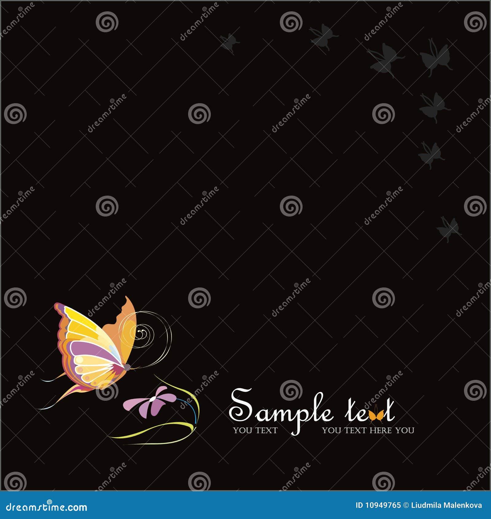 вектор цветка бабочек backgraund