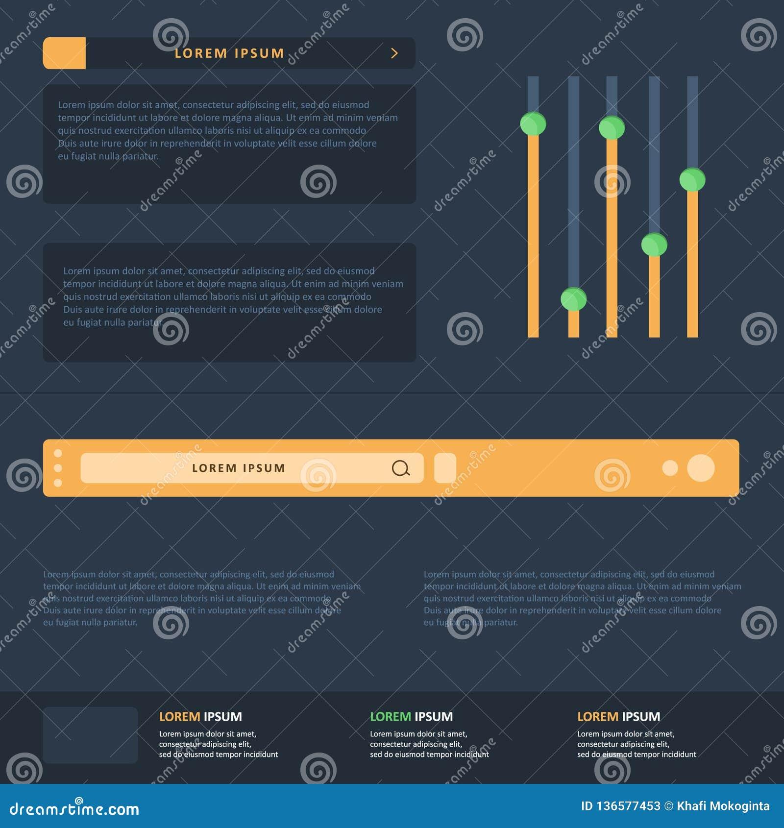 Вектор шаблона дизайна Infographic плоский