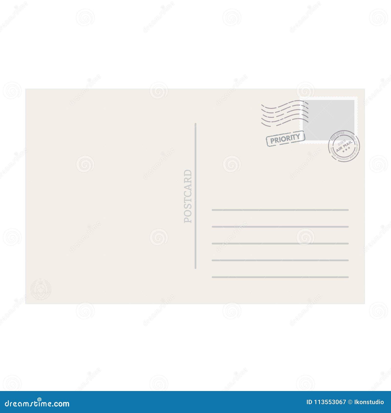 Картинки все, задник почтовой открытки вектор