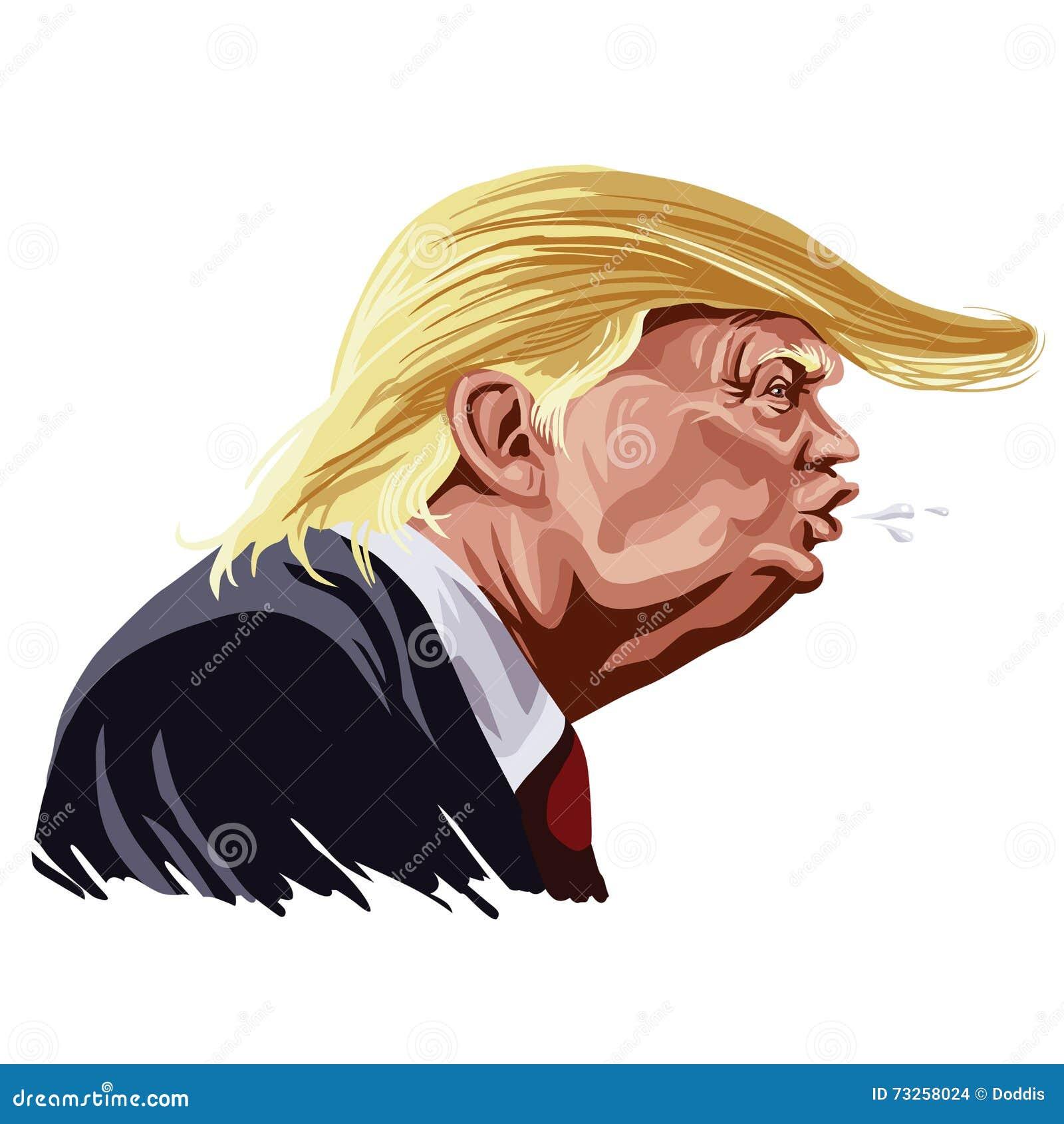 Вектор шаржа Дональд Трамп