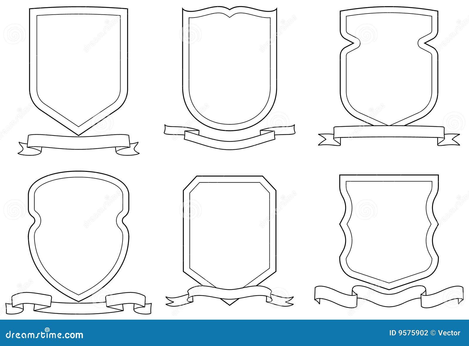 вектор экранов эмблем гребеней установленный переченями