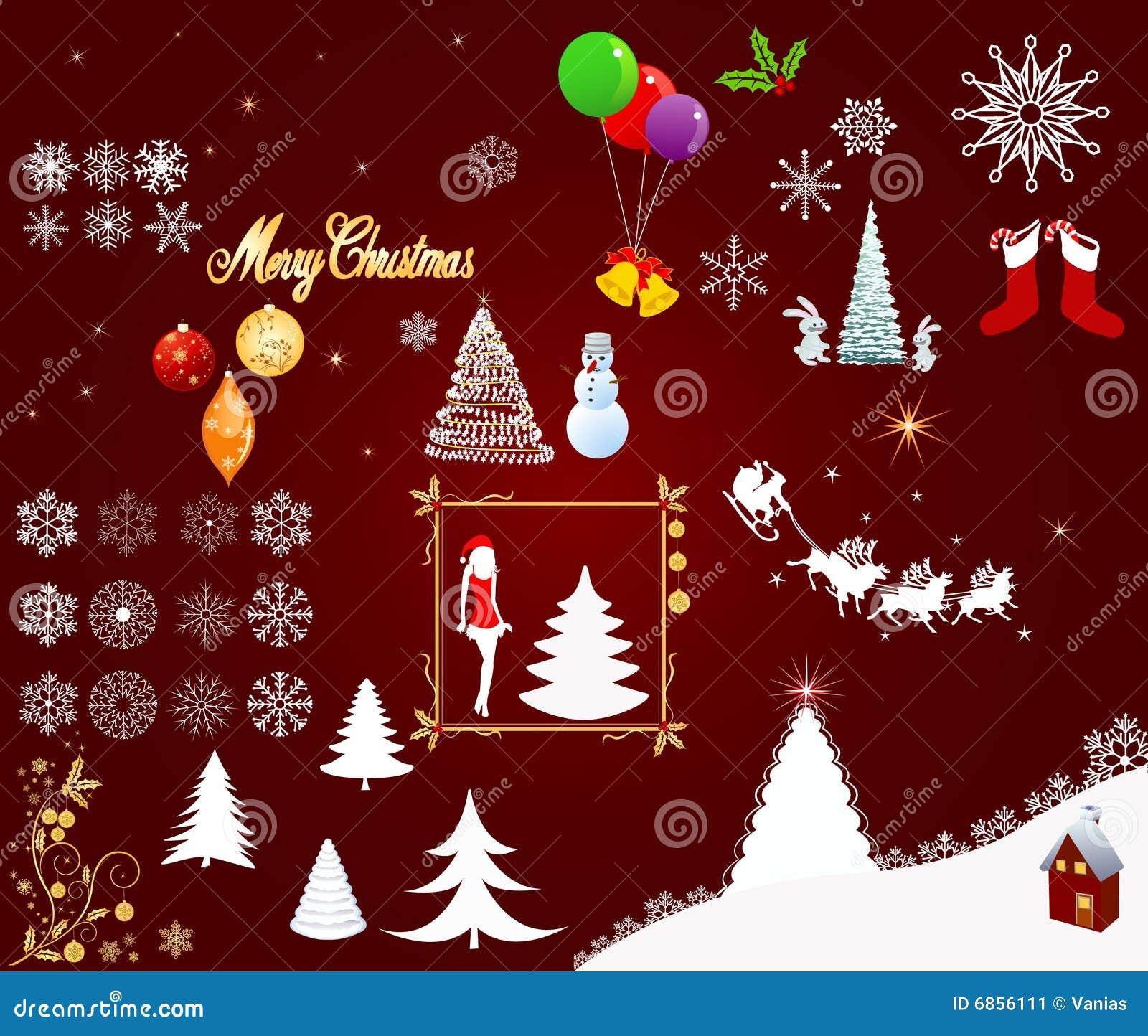 вектор элементов рождества