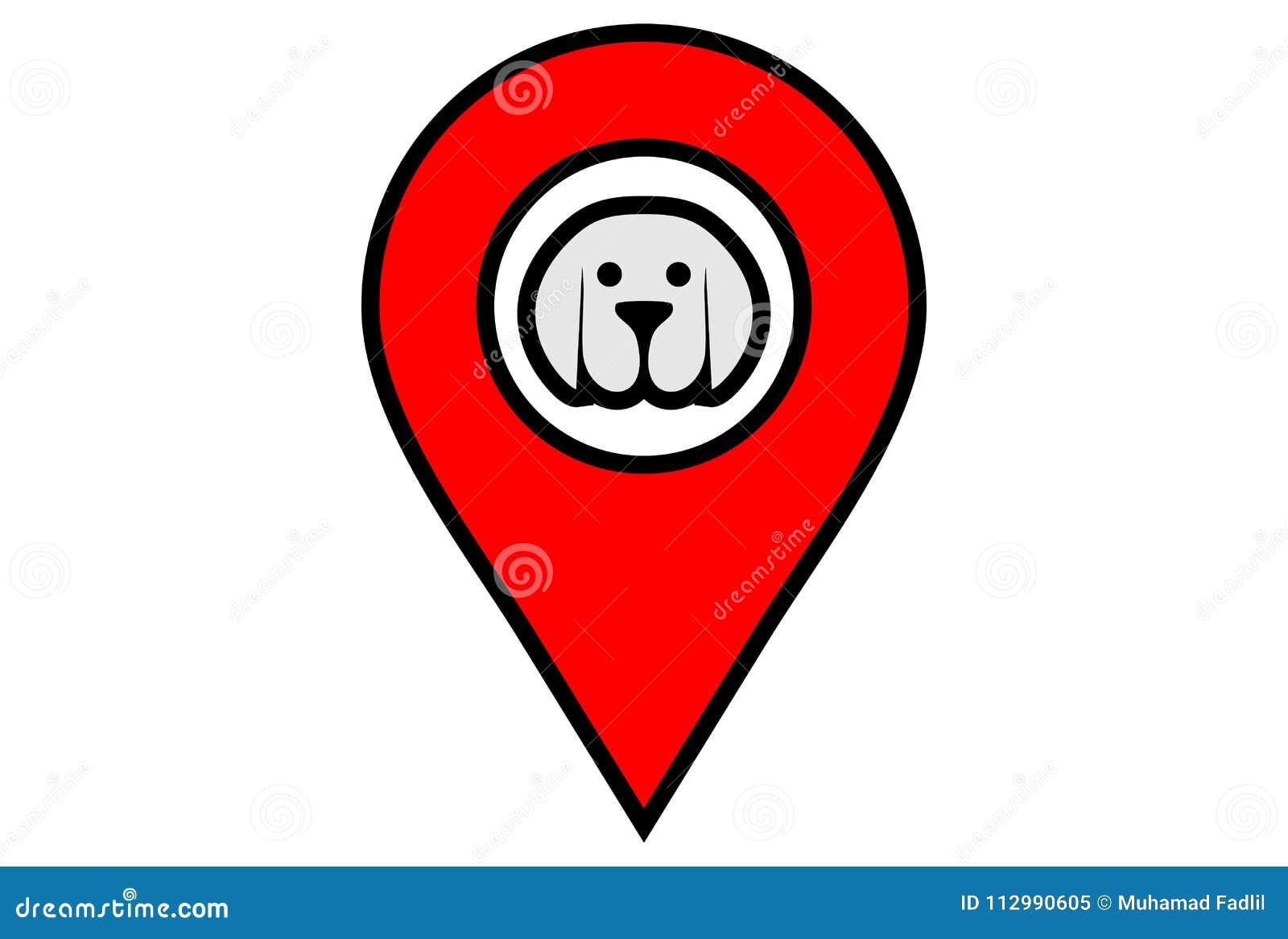 Вектор dsign логотипа положения собаки