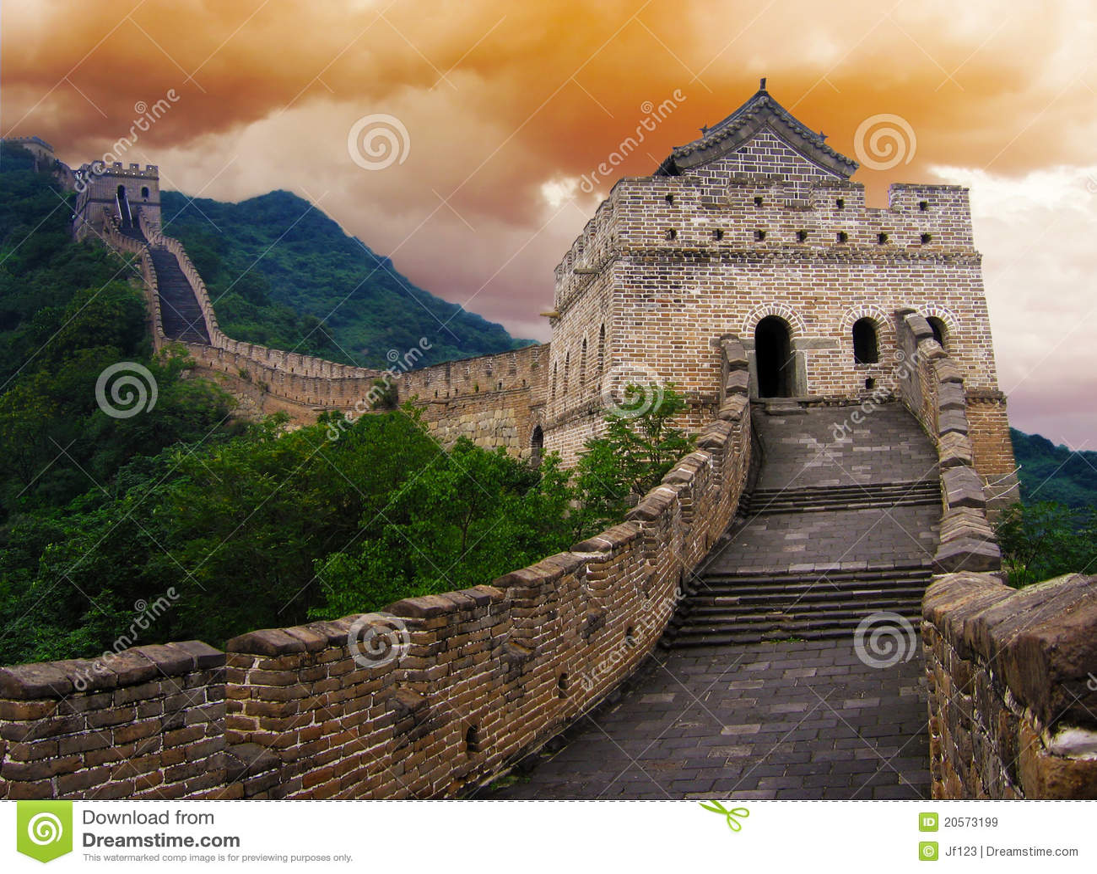 Великая Китайская Стена фарфора