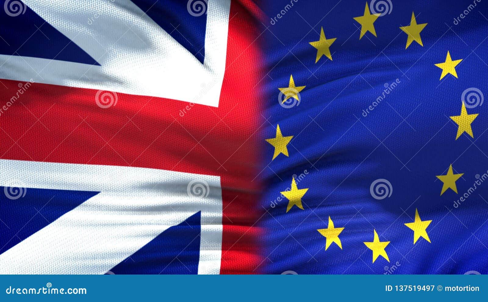 Великобритания и предпосылка флагов ЕС, дипломатический и экономические отношения, торговля