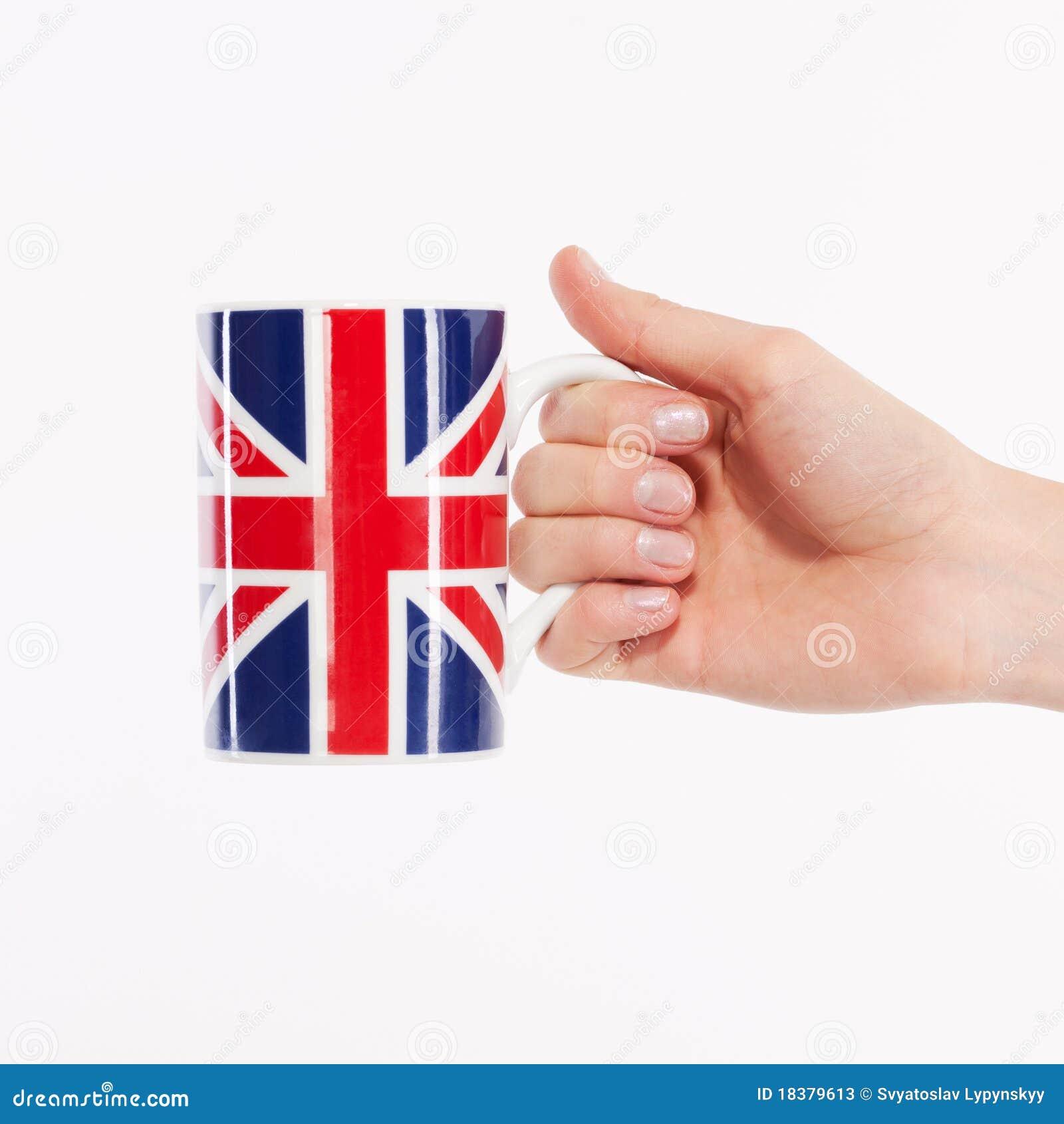 великобританская рука чашки