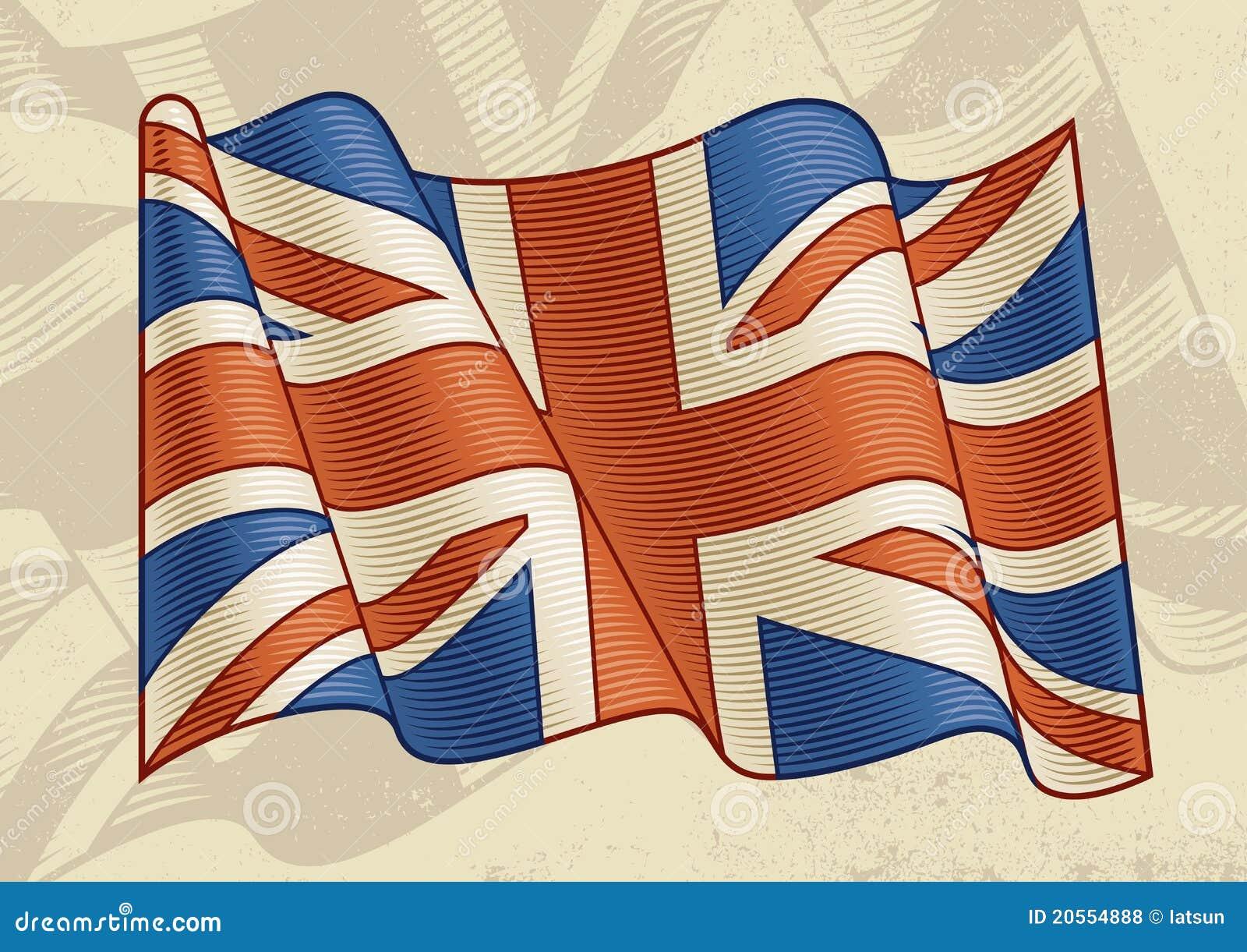 великобританский сбор винограда флага
