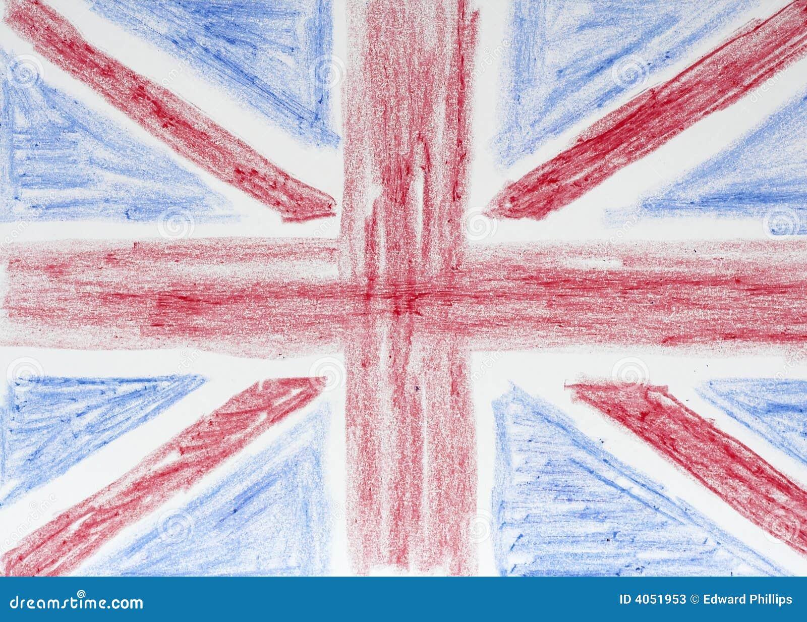 великобританский флаг чертежа