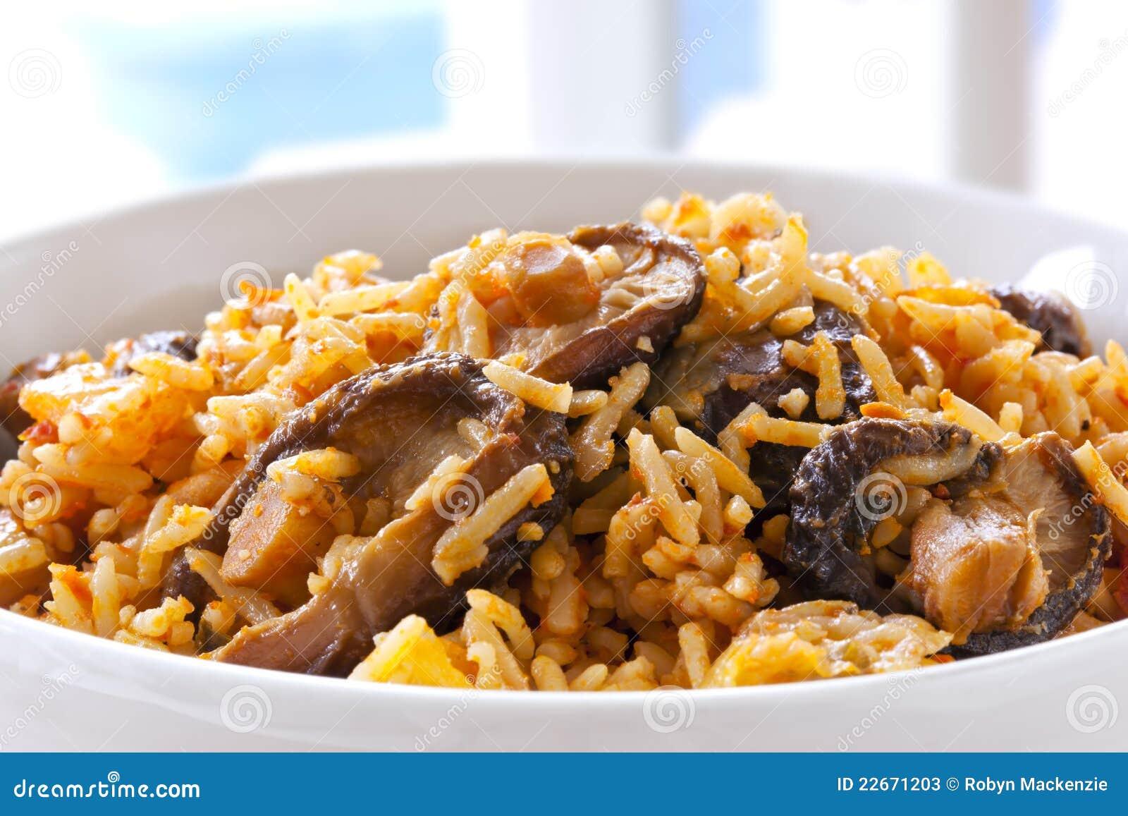 величает shitake риса