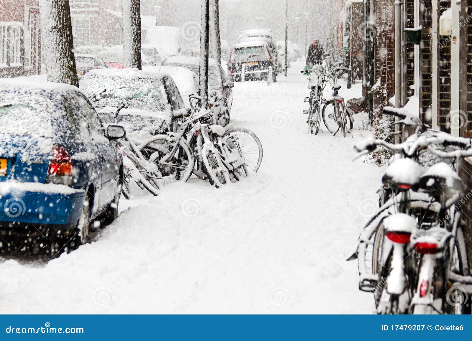 велосипед streetview пурги снежка города