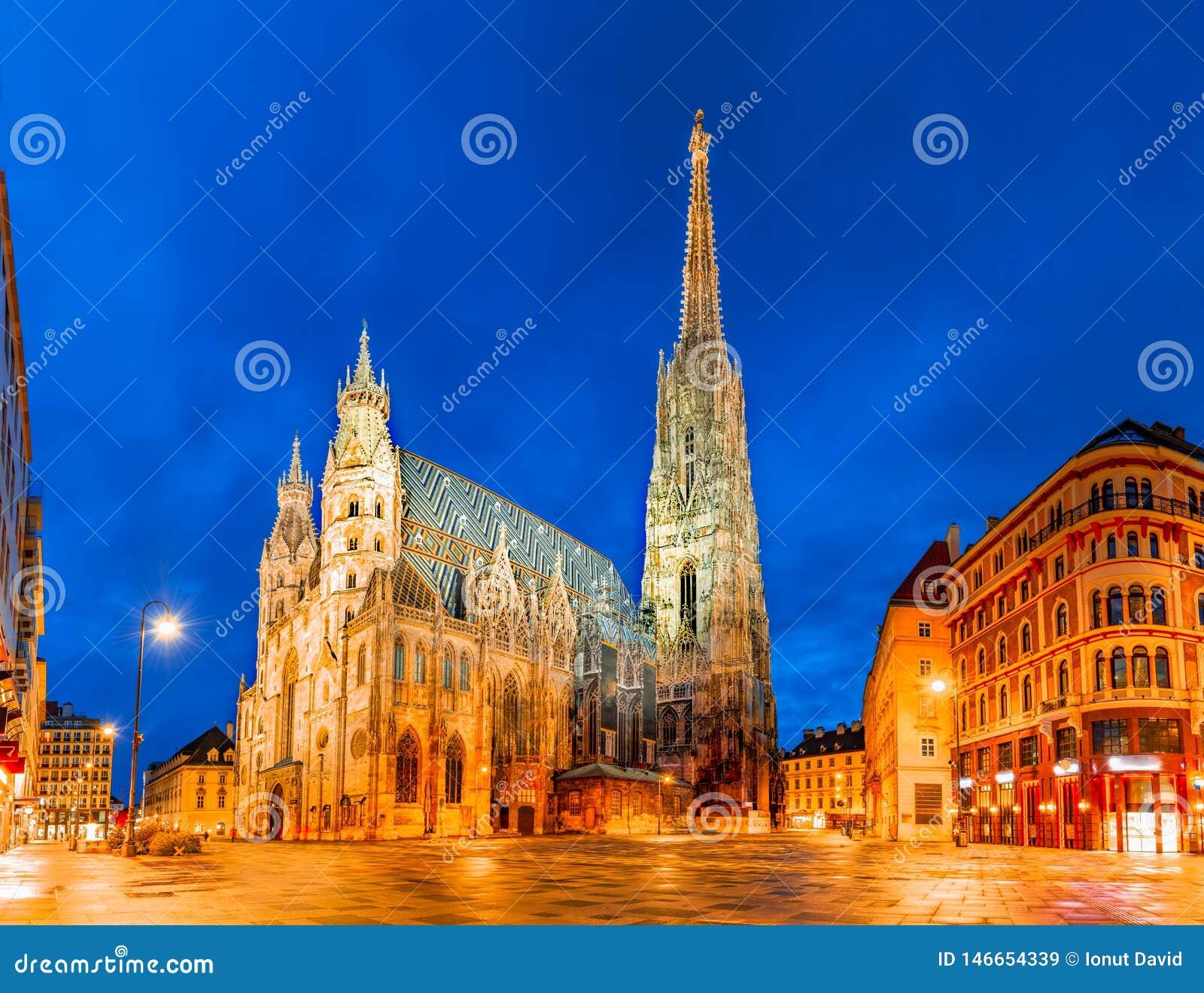 Вена, Австрия, Европа: Собор St Stephen или Stephansdom, Stephansplatz
