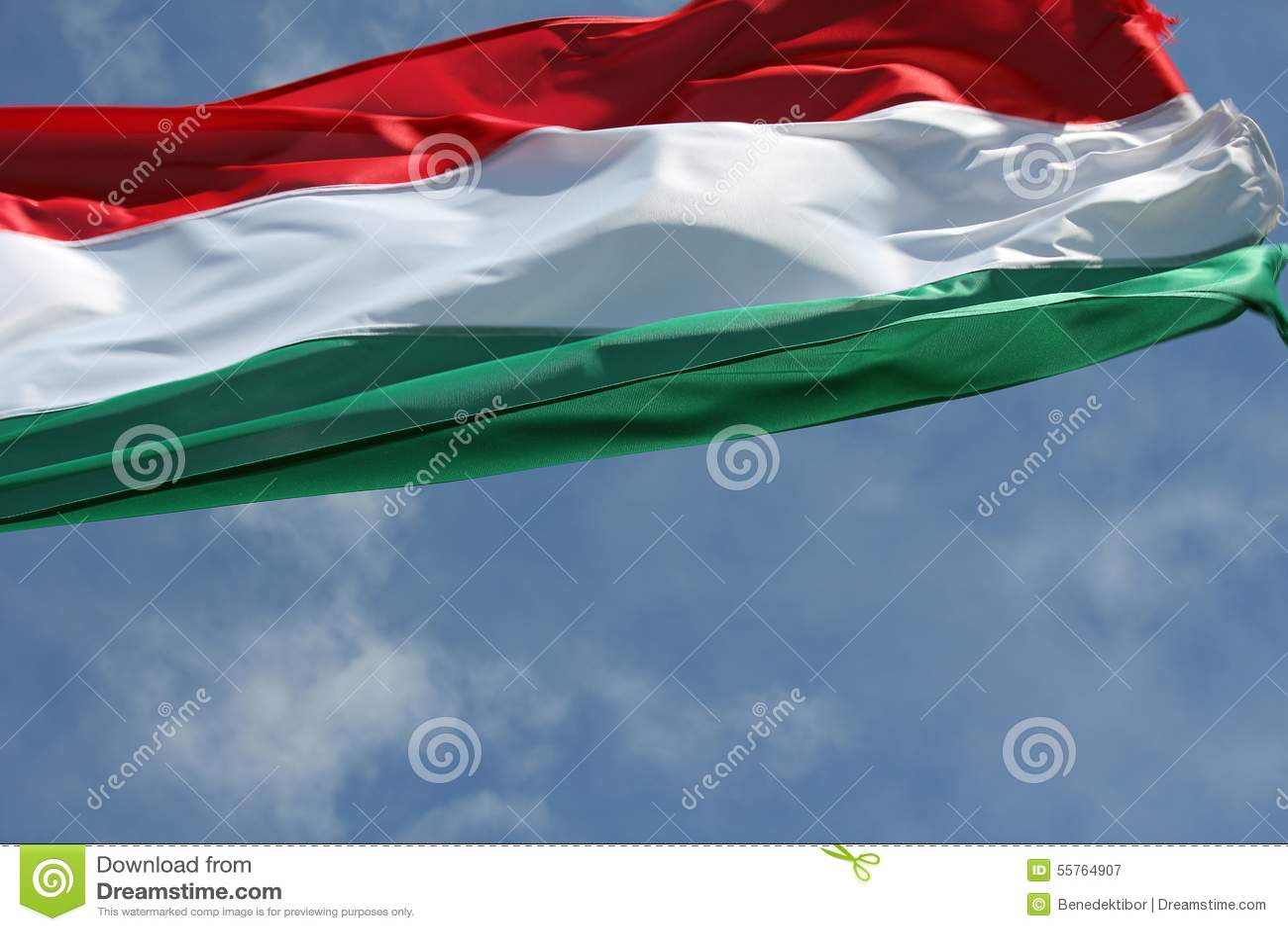 Венгерский национальный флаг в ветре