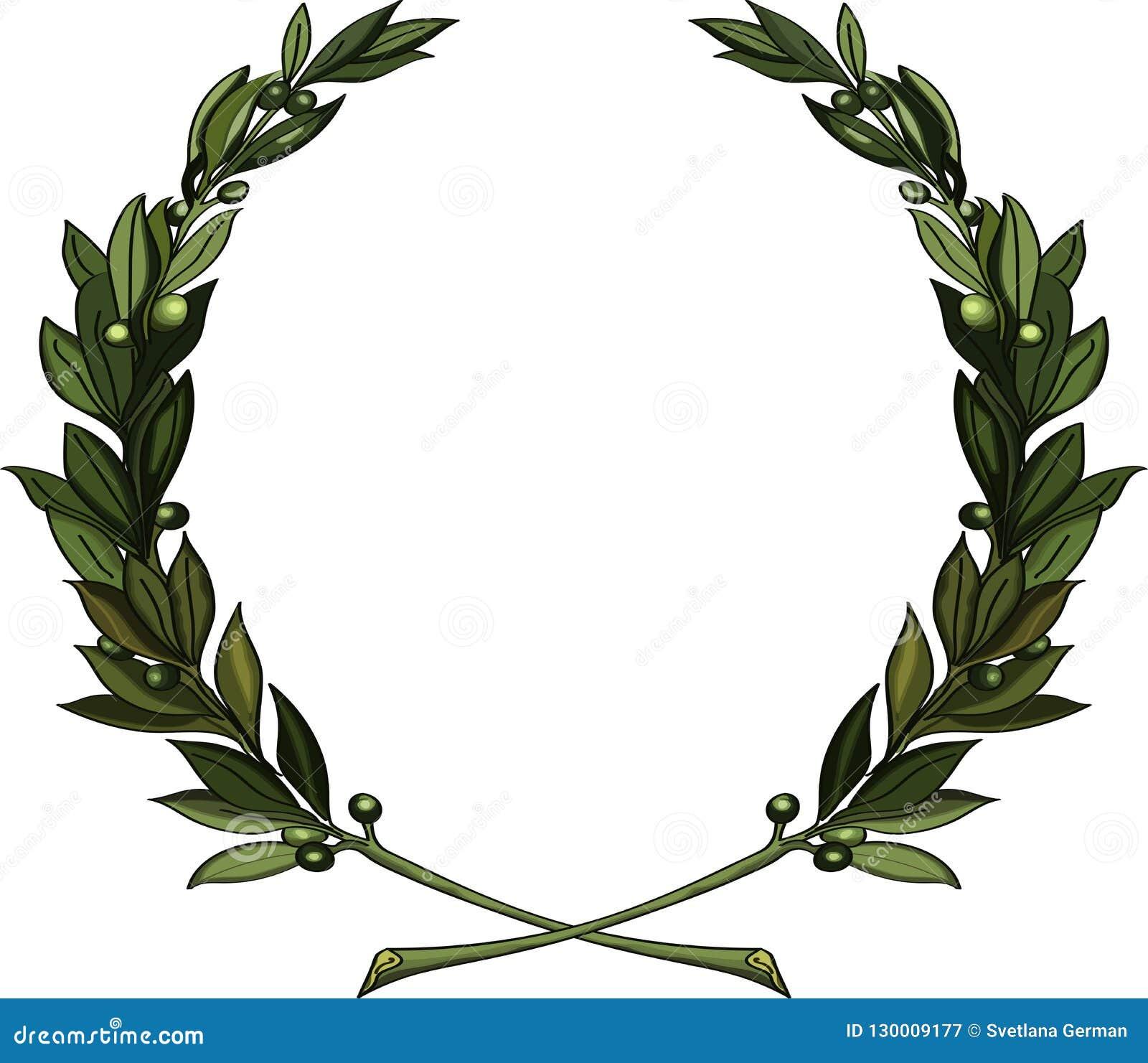Венок оливковых веток