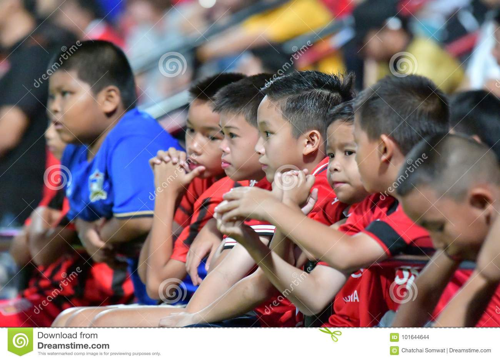 Вентилятор футбола Таиланда в футболе Invi Бангкока международном