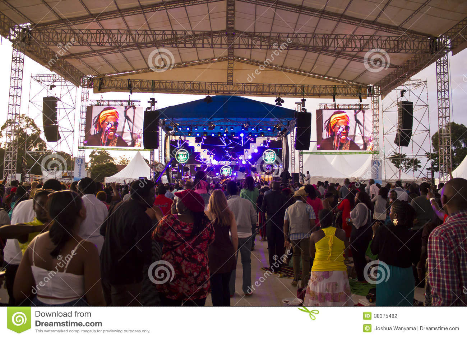 Вентиляторы на джазовом фестивале Safaricom