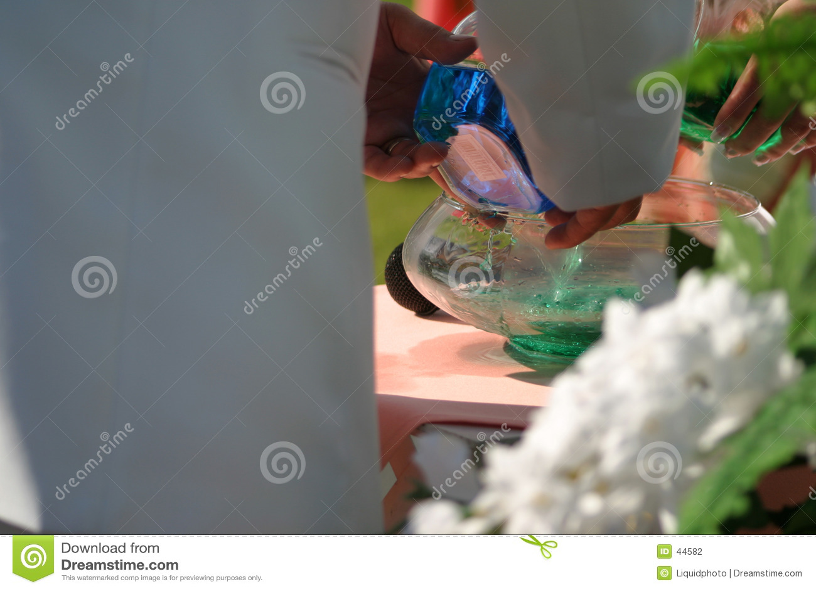 венчание воды смешивания