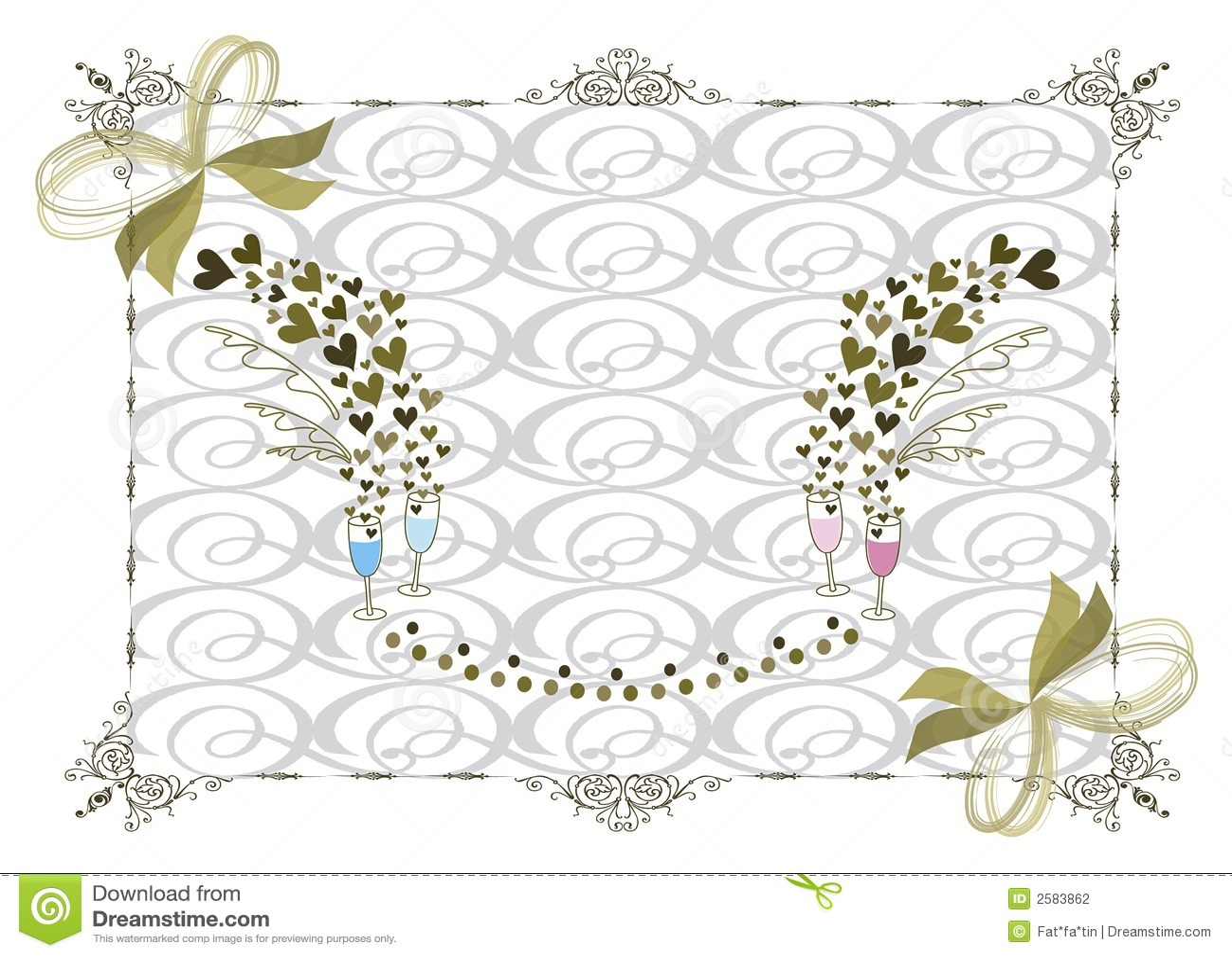 венчание золота рамки викторианское