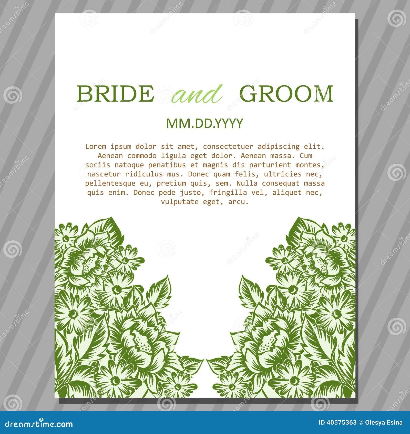 венчание иллюстрации карточки абстракции