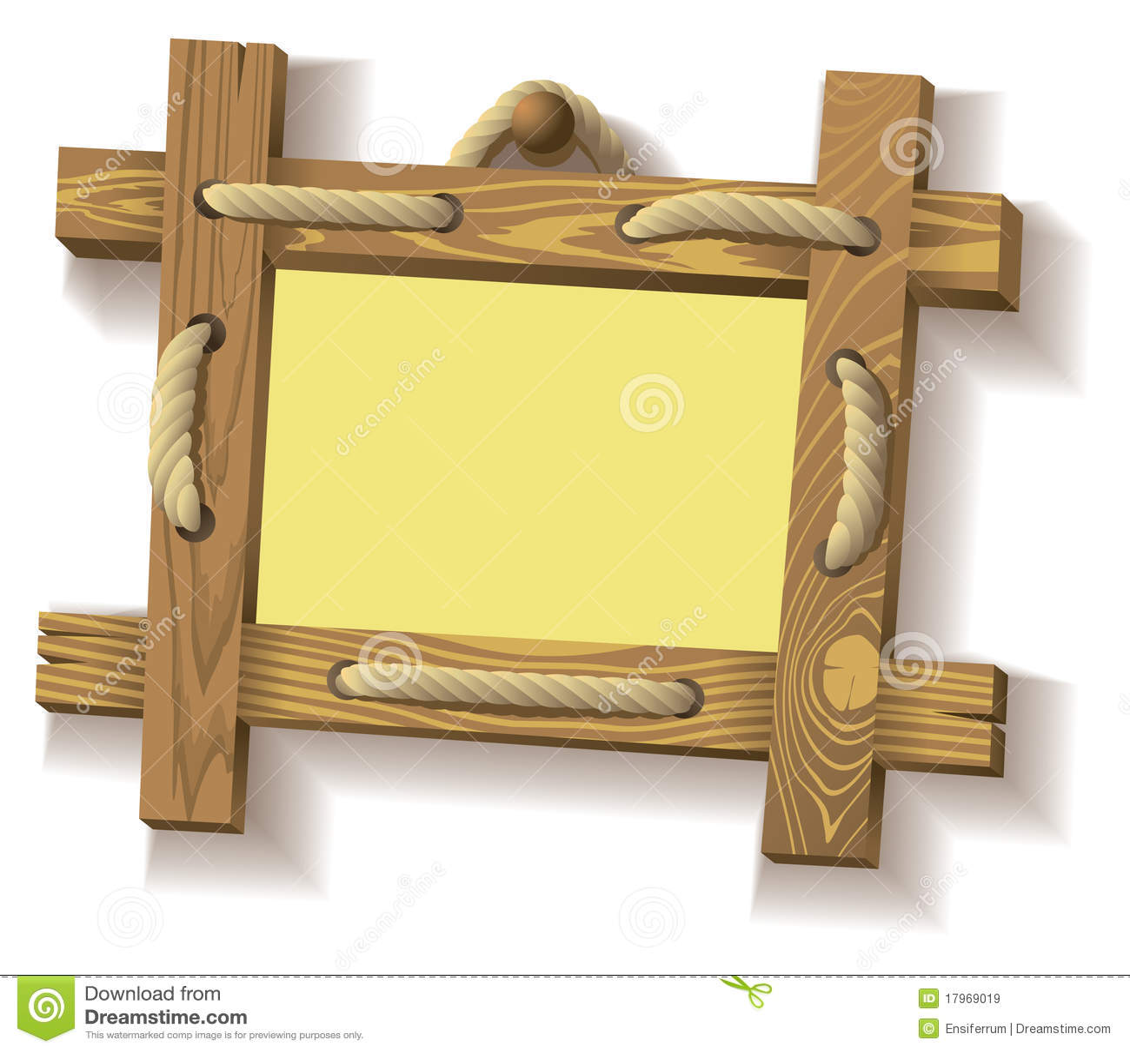 веревочка рамки деревянная